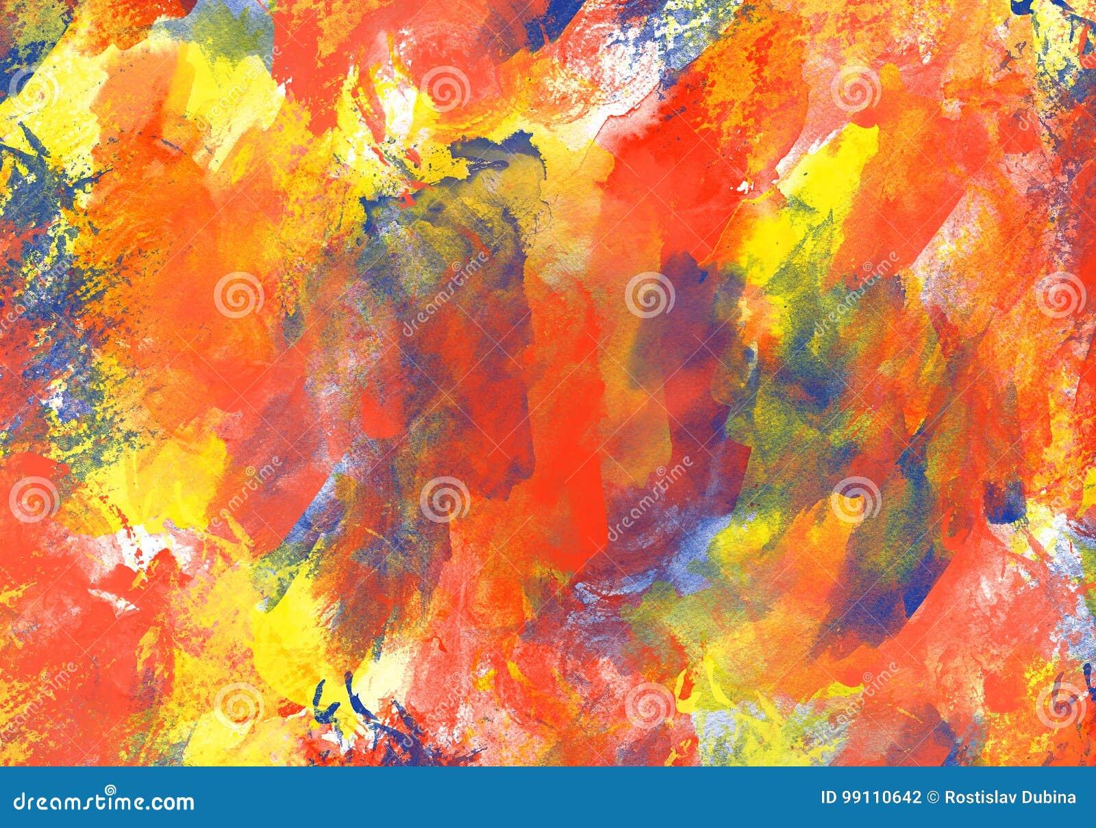 Το αρχικό χρώμα watercolor σύστασης τέχνης ρίχνει αφηρημένο expressionism λεκέδων