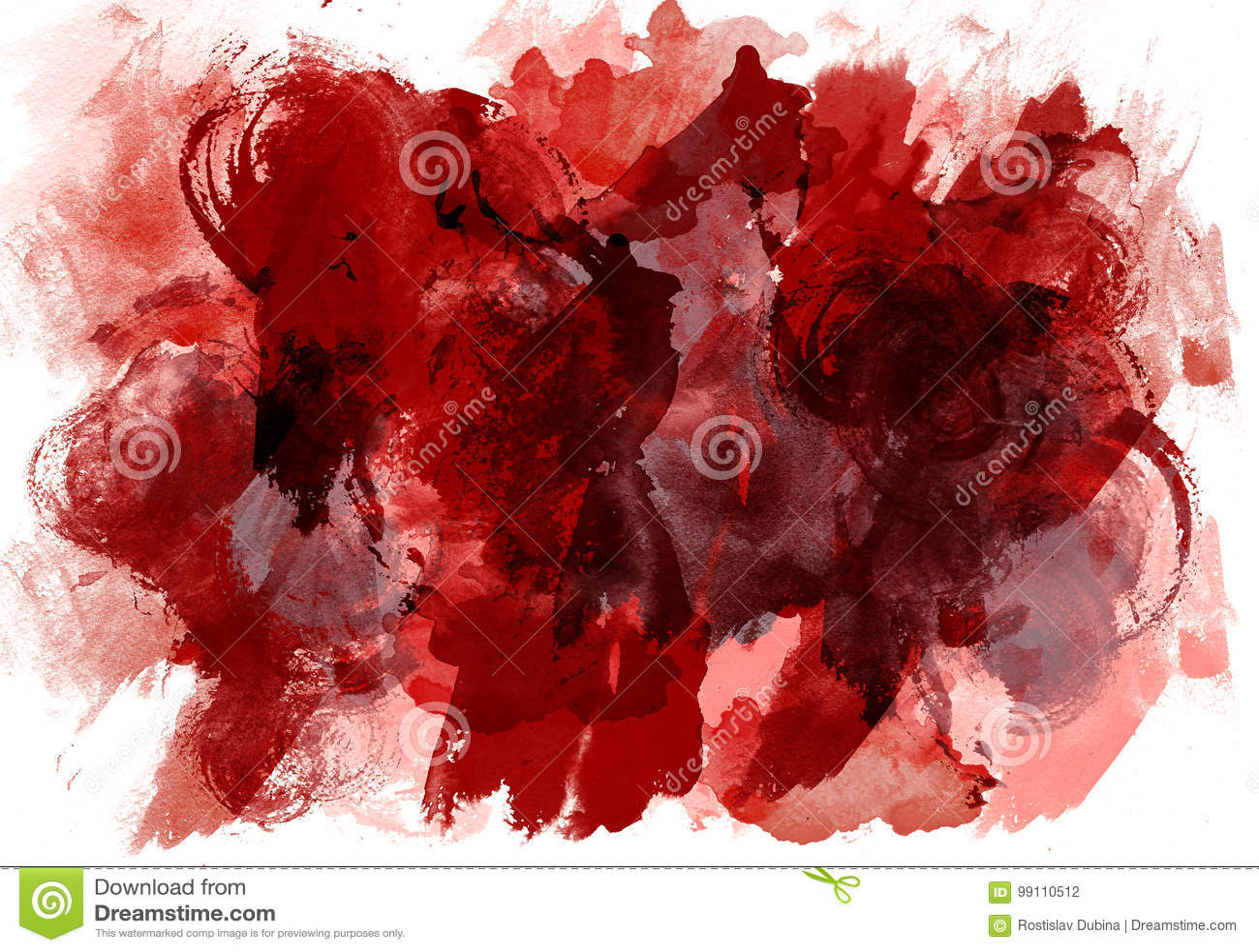 Το αρχικό χρώμα watercolor σύστασης τέχνης ρίχνει την περίληψη λεκέδων Αφηρημένο expressionism σύστασης
