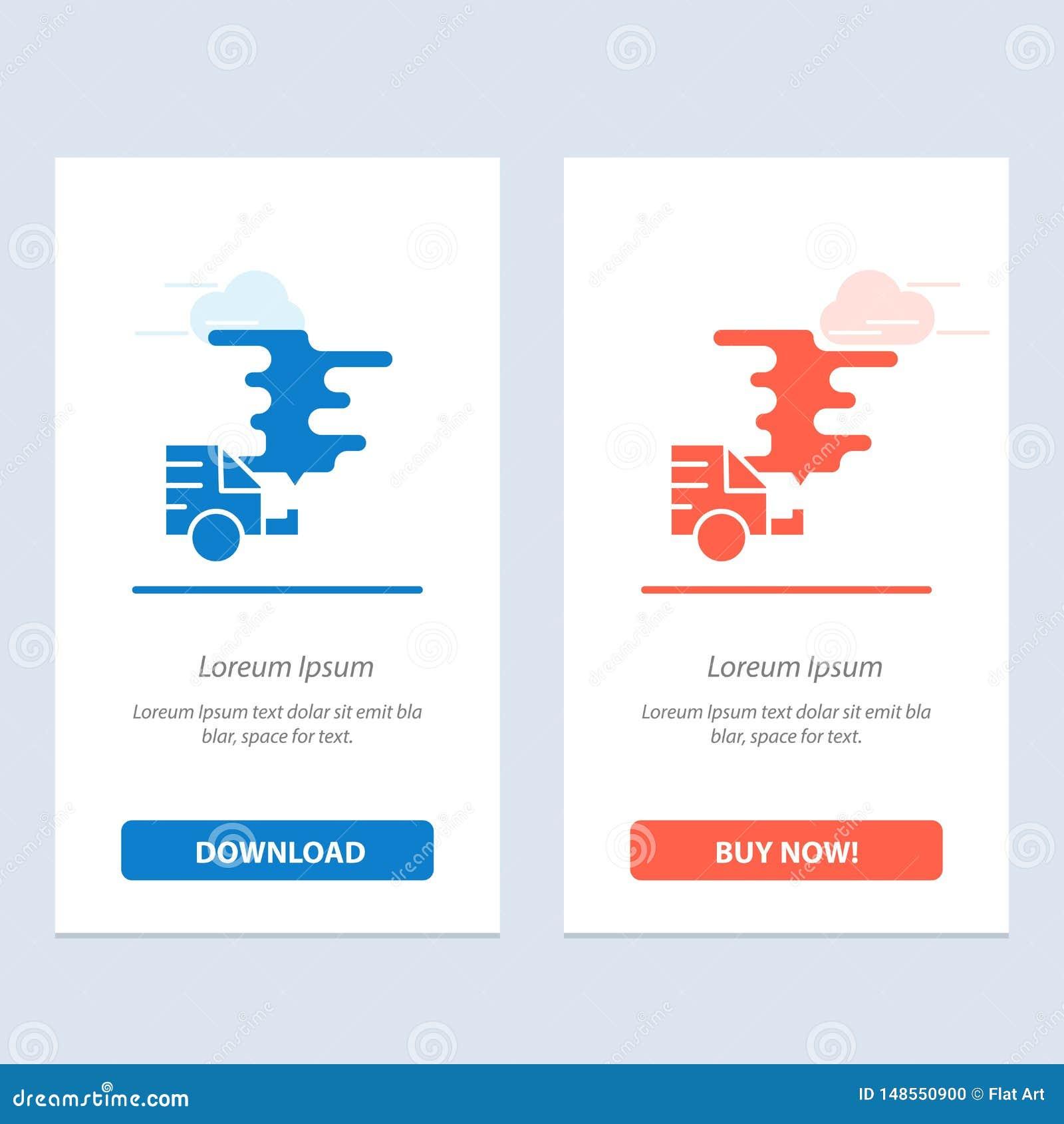 Το αυτοκίνητο, το αυτοκίνητο, η εκπομπή, το αέριο, η ρύπανση μπλε και το κόκκινο μεταφορτώνουν και αγοράζουν τώρα το πρότυπο καρτ