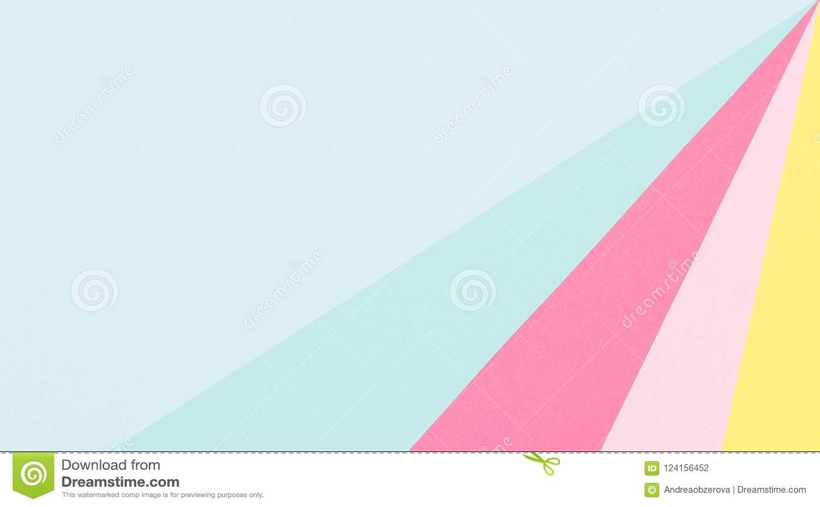 Το αφηρημένο γεωμετρικό επίπεδο εγγράφου κρητιδογραφιών μπλε, κίτρινο και ρόδινο βάζει το υπόβαθρο Πρότυπο μινιμαλισμού και συμμε