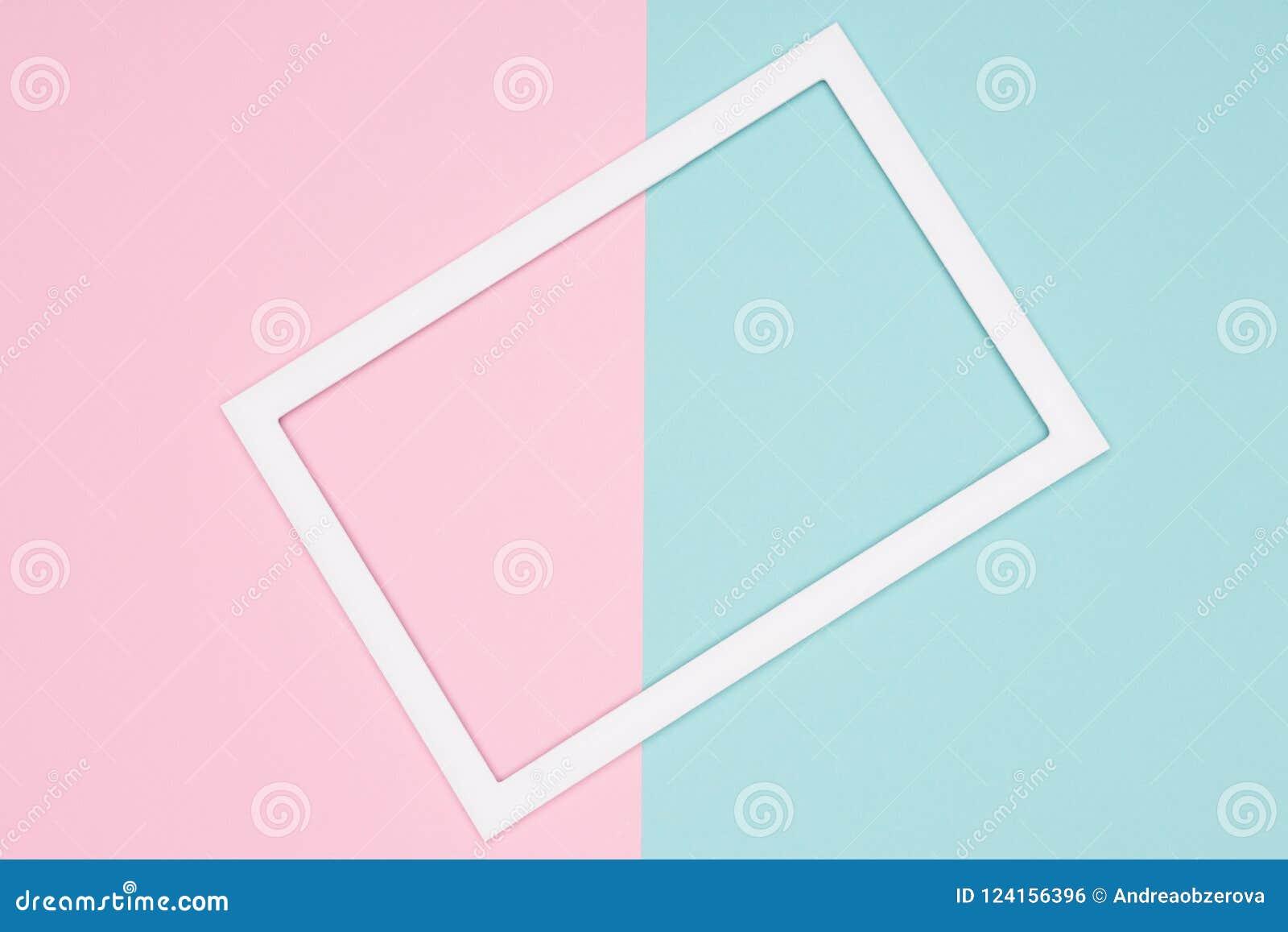 Το αφηρημένο γεωμετρικό μπλε κρητιδογραφιών, το κιρκίρι και το ρόδινο επίπεδο εγγράφου βάζουν το υπόβαθρο Πρότυπο μινιμαλισμού, γ