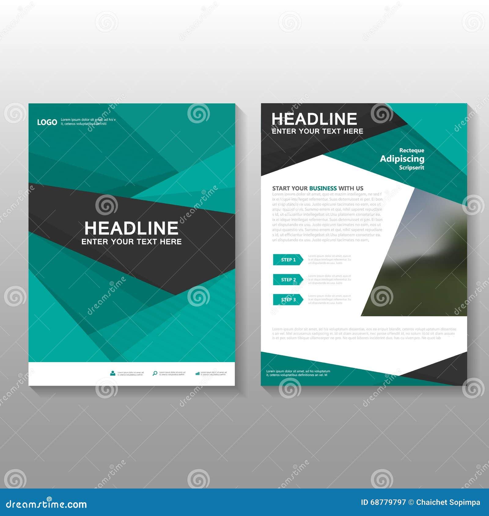 Το αφηρημένο πράσινο διανυσματικό σχέδιο προτύπων επιχειρησιακών προτάσεων ιπτάμενων φυλλάδιων φυλλάδιων, σχέδιο σχεδιαγράμματος