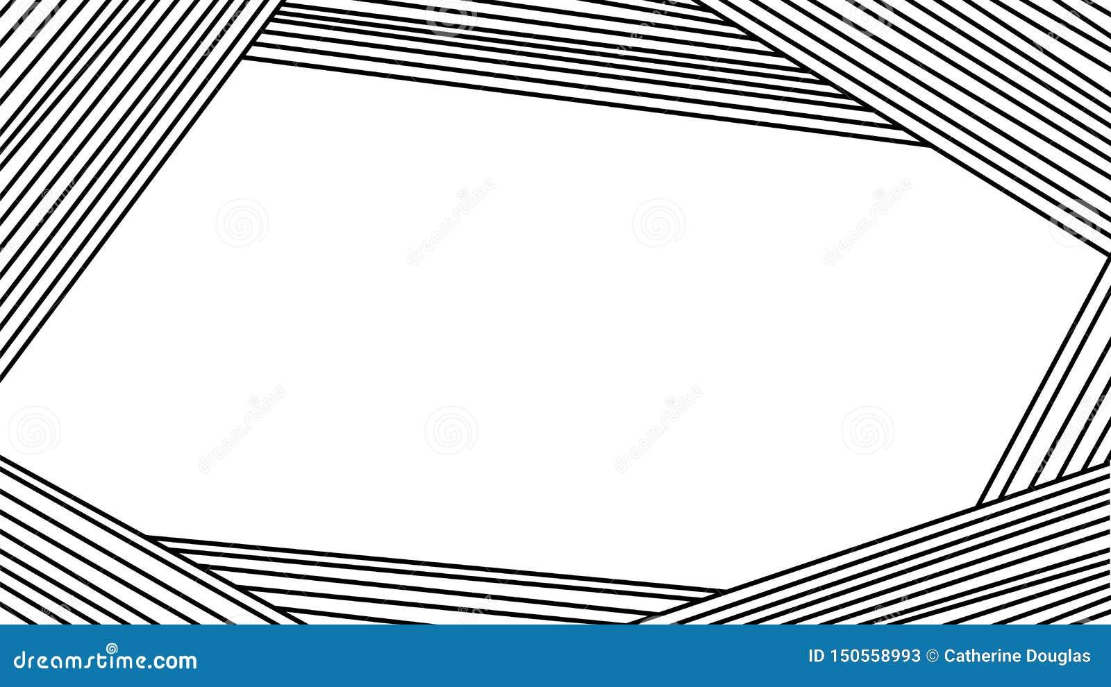 Το αφηρημένο υπόβαθρο οι μαύρες γραμμές παρουσιάζει τη γεωμετρία του πλαισίου Σύγχρονο πρότυπο r