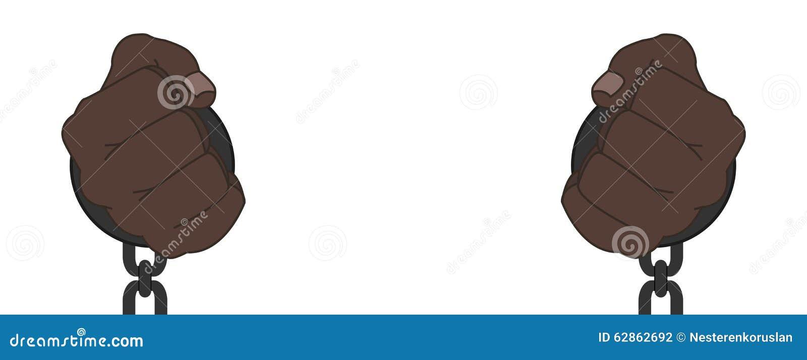 Το αφρικανικό αρσενικό παραδίδει τις χειροπέδες χάλυβα