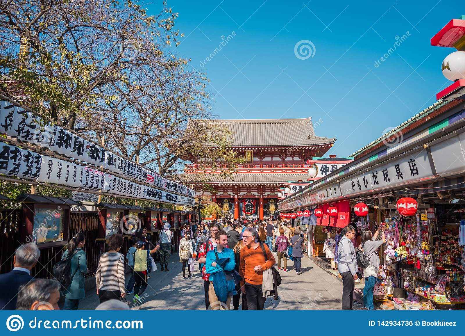 """Το βουδιστικό όνομα """"Sensoji """"ναών στην περιοχή Asakusa στο Τόκιο, Ιαπωνία"""