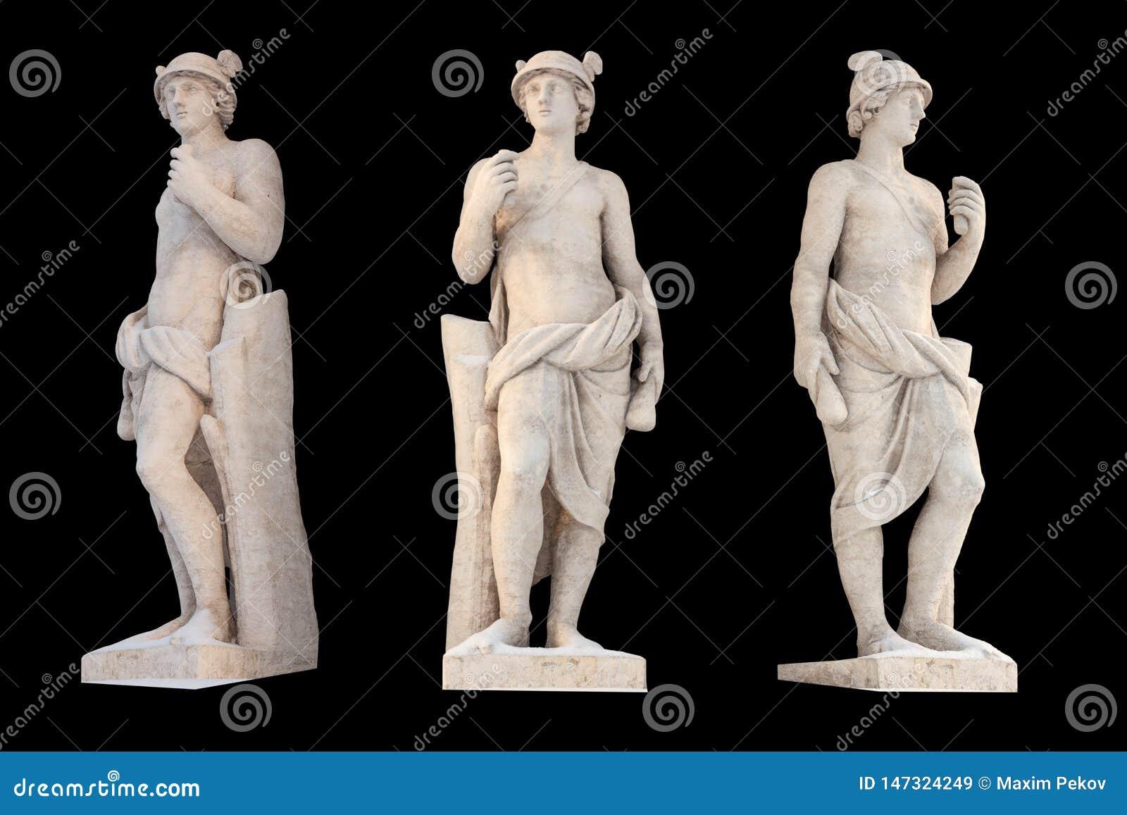 Το γλυπτό του υδραργύρου Θεών αρχαίου Έλληνα απομονώνει Ο υδράργυρος ήταν αγγελιοφόρος και Θεός του εμπορίου, του κέρδους και του