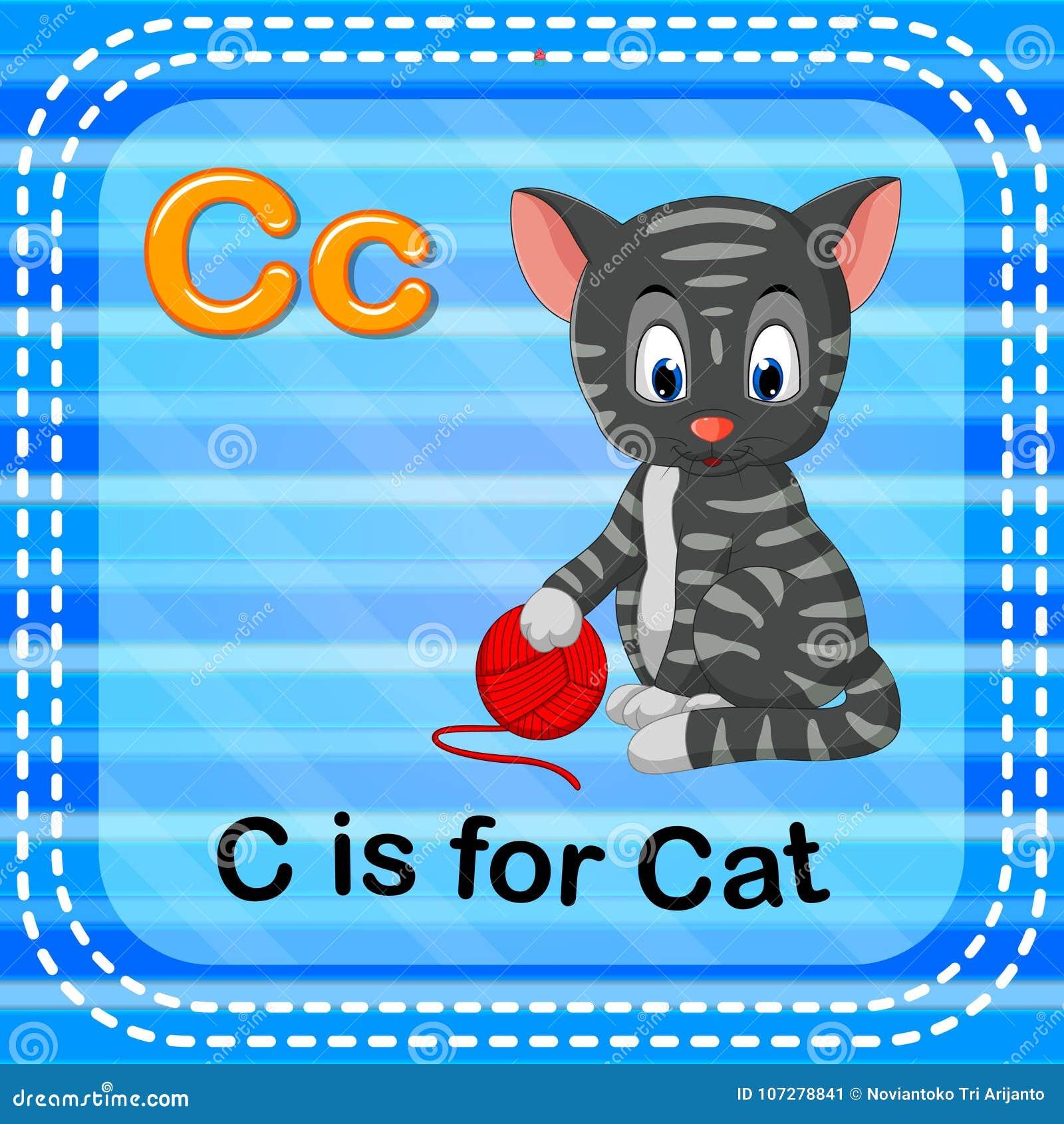 Το γράμμα Γ Flashcard είναι για τη γάτα