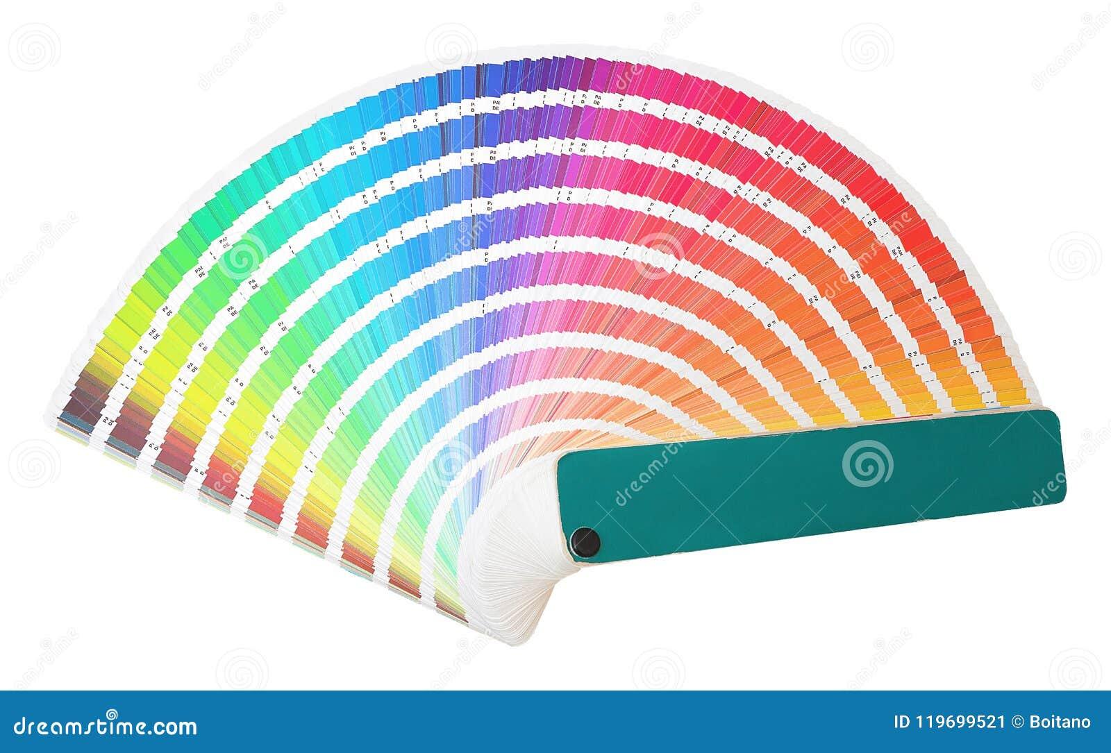 Το δείγμα ουράνιων τόξων χρωματίζει τον κατάλογο σε πολλές σκιές των χρωμάτων ή του φάσματος που απομονώνονται στο άσπρο υπόβαθρο