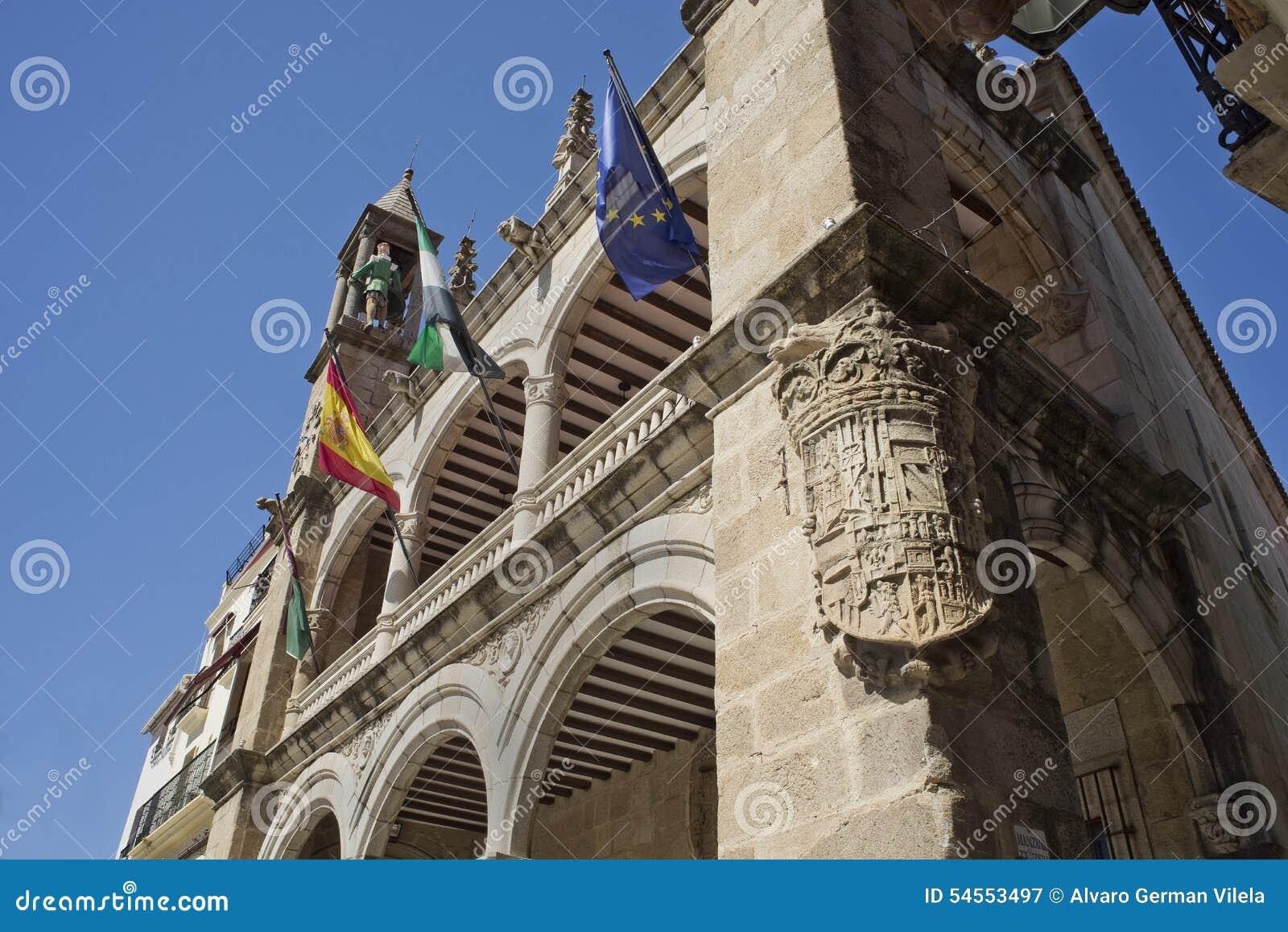 Το Δημαρχείο Plasencia, Caceres Ισπανία