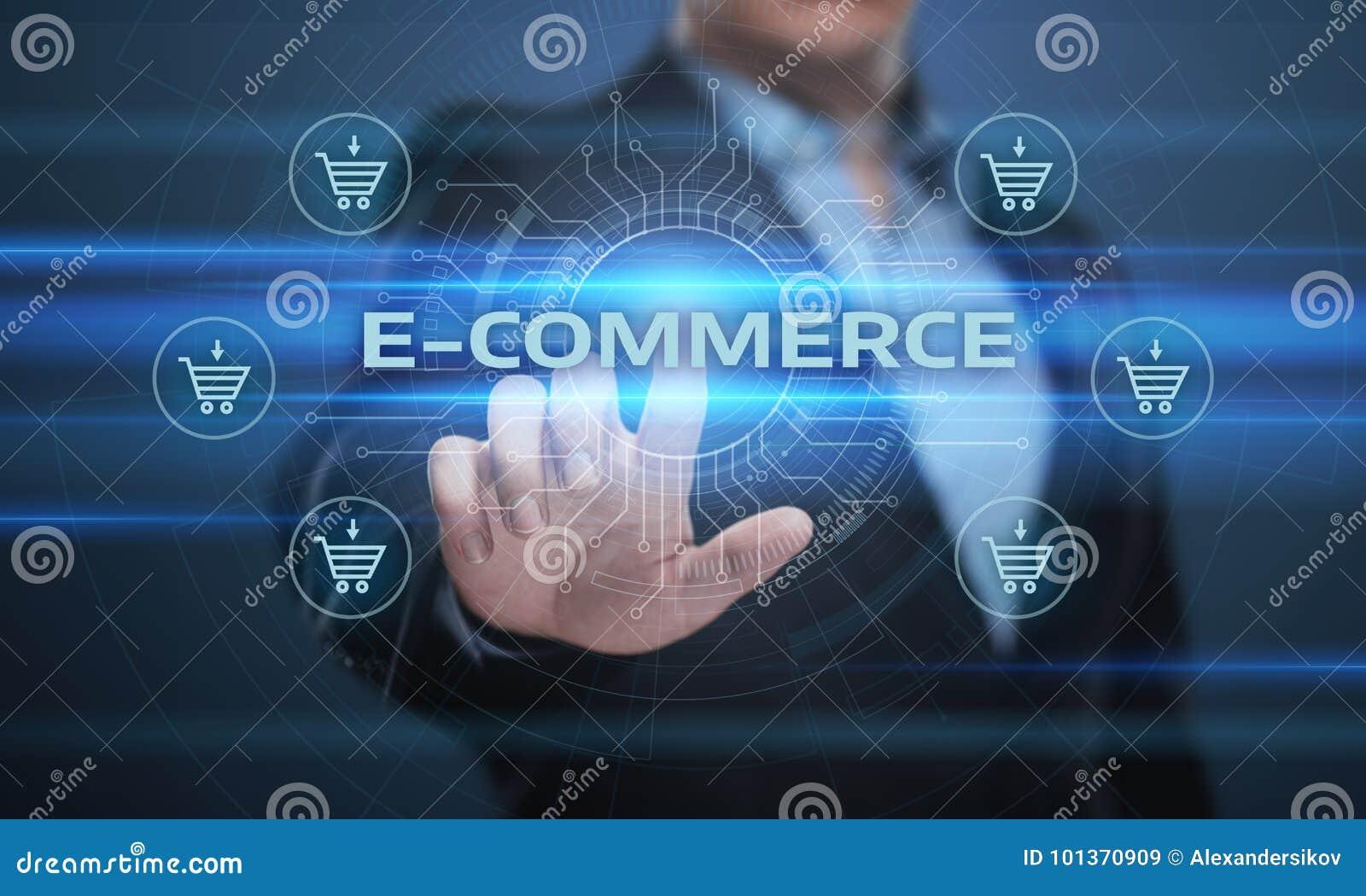 Το ηλεκτρονικό εμπόριο προσθέτει στη σε απευθείας σύνδεση έννοια Διαδικτύου επιχειρησιακής τεχνολογίας αγορών κάρρων