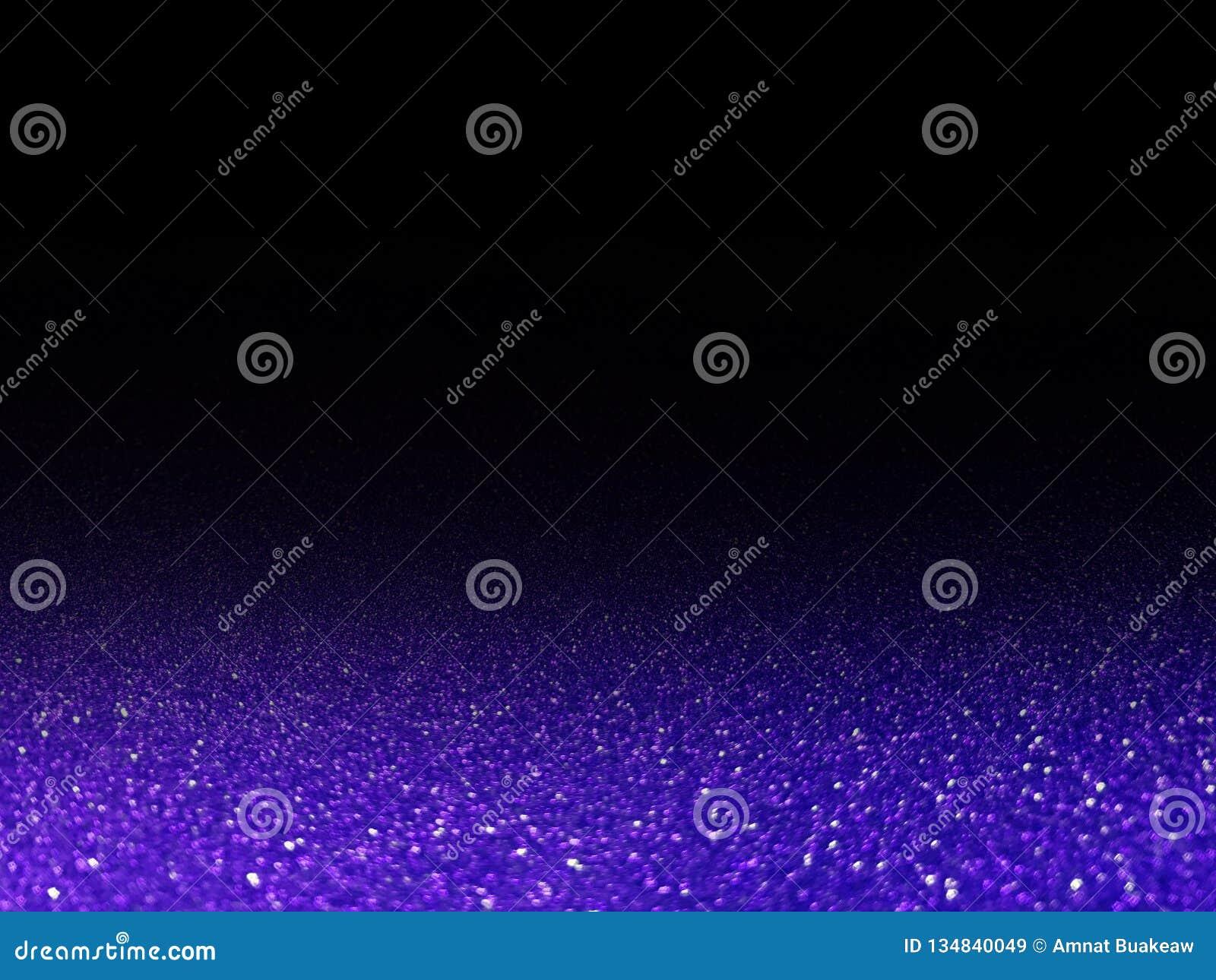 Το ιώδες ακτινοβολώντας φως Bokeh λάμπει μαύρο, ιώδη μεγάλο σε φωτεινό πολυτέλειας σπινθηρίσματος για τη διαφήμιση καλλυντικών υπ