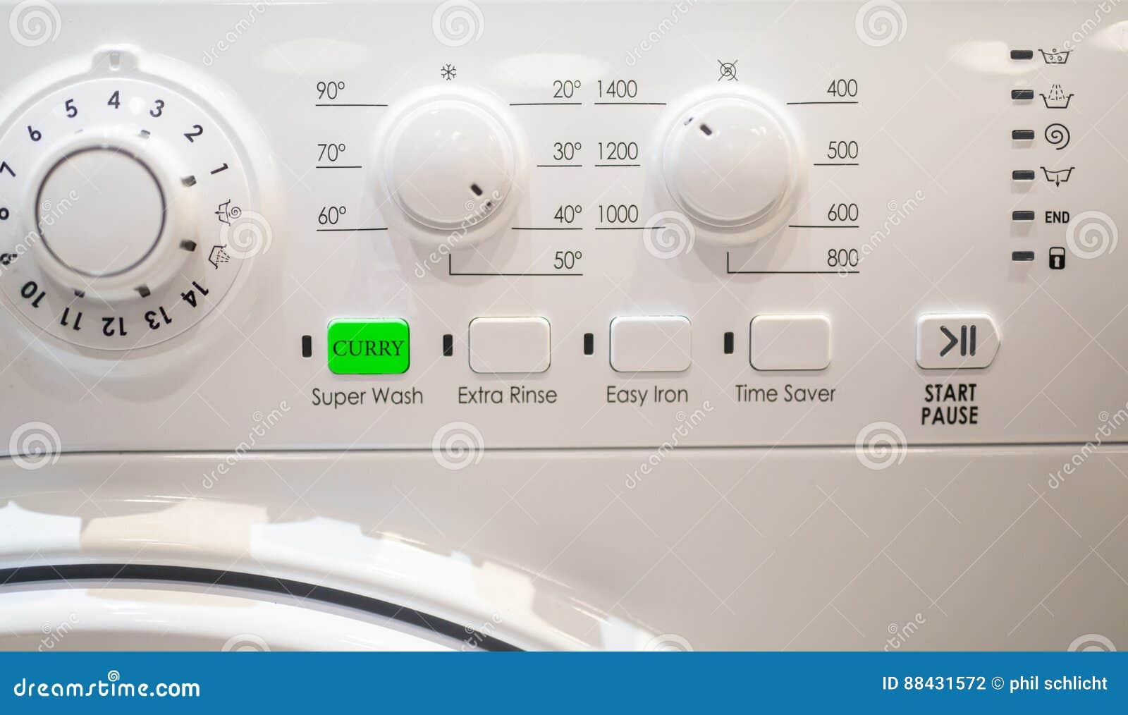 Το κάρρυ αφαιρεί το κουμπί στο πλυντήριο