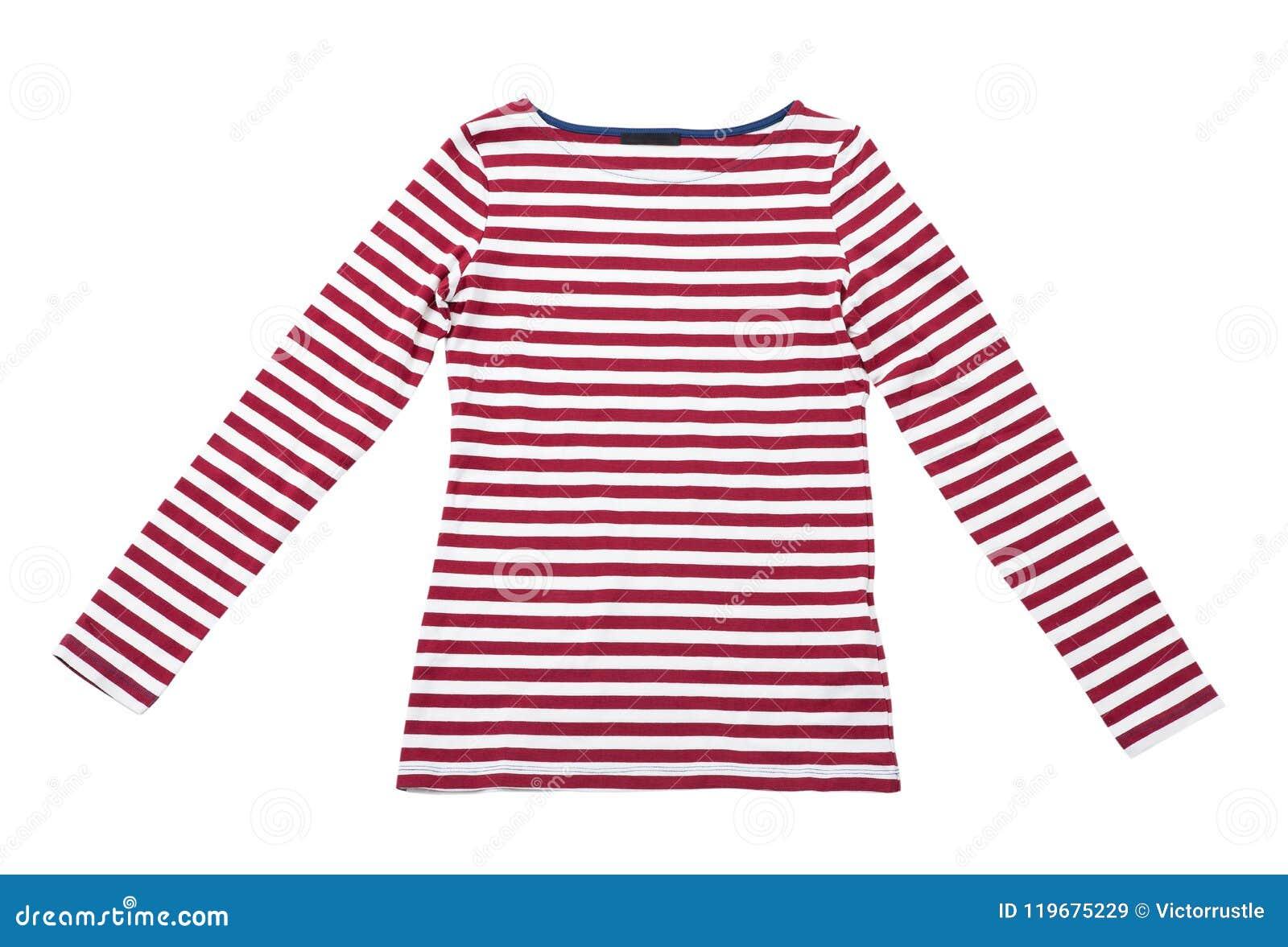 d1478b6547a Το καλοκαίρι γυναικών ντύνει την κόκκινη ριγωτή μπλούζα πόλο που ...