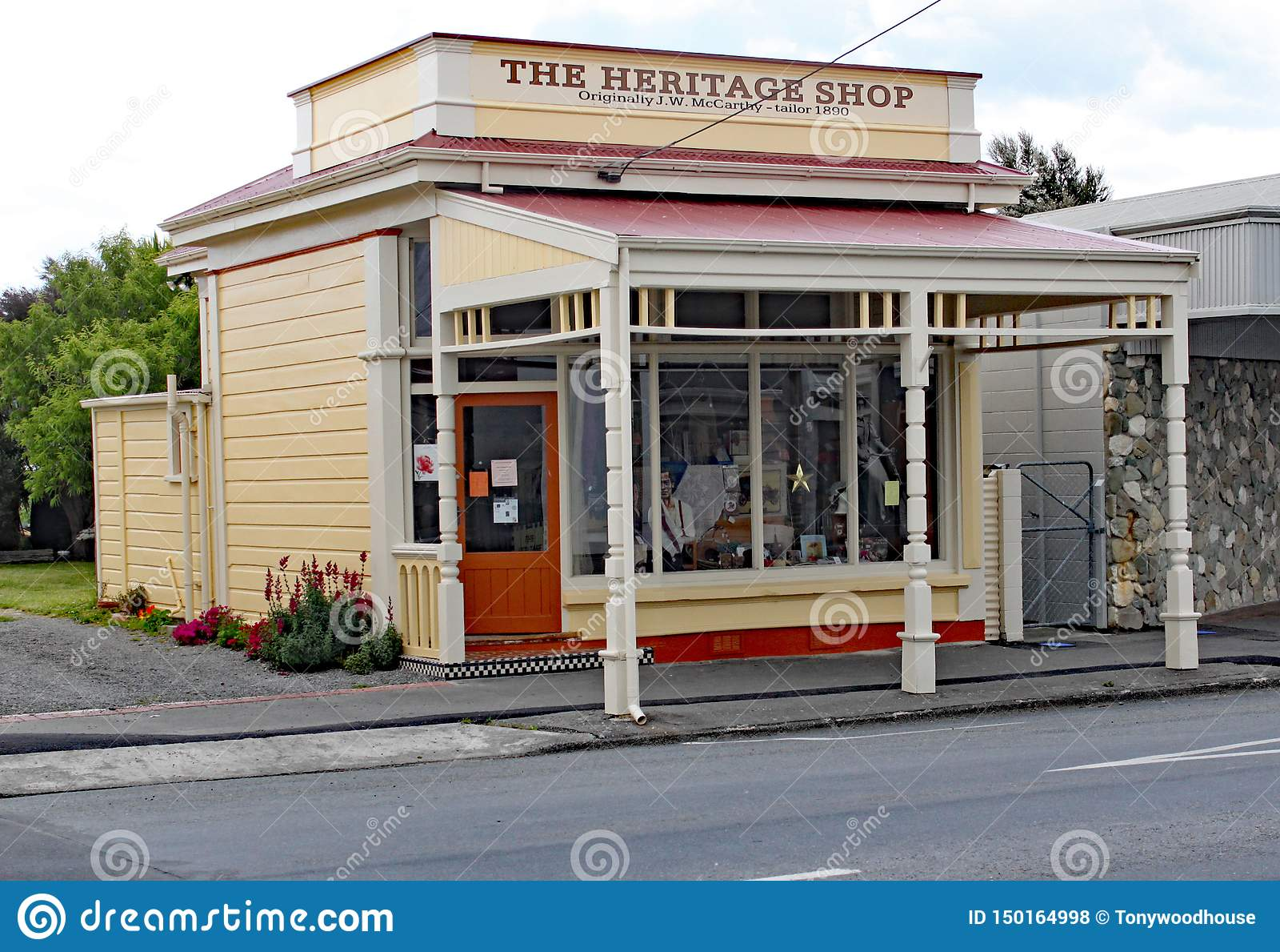 Το κατάστημα κληρονομιάς στο κύριο τετράγωνο στο martinborough, Νέα Ζηλανδία