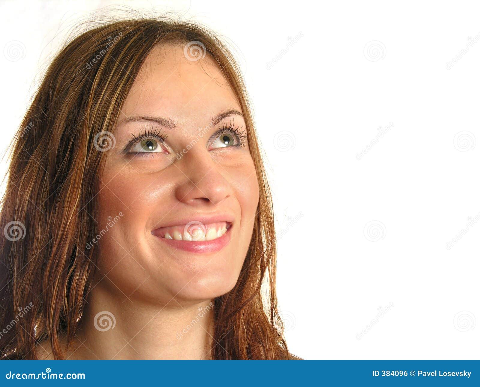 το κορίτσι ανατρέχει χαμόγελο