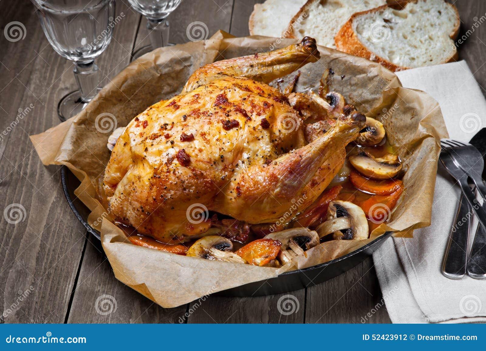 το κοτόπουλο έψησε το σύ&n