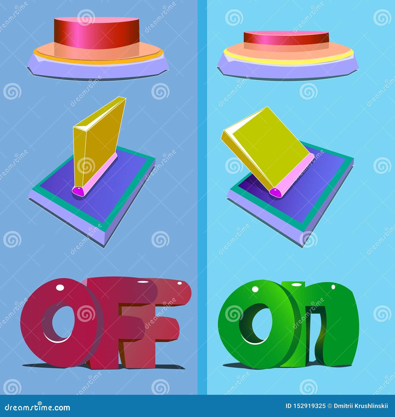 Το κουμπί απεικονίζεται σε δύο στάδια της συμπίεσης
