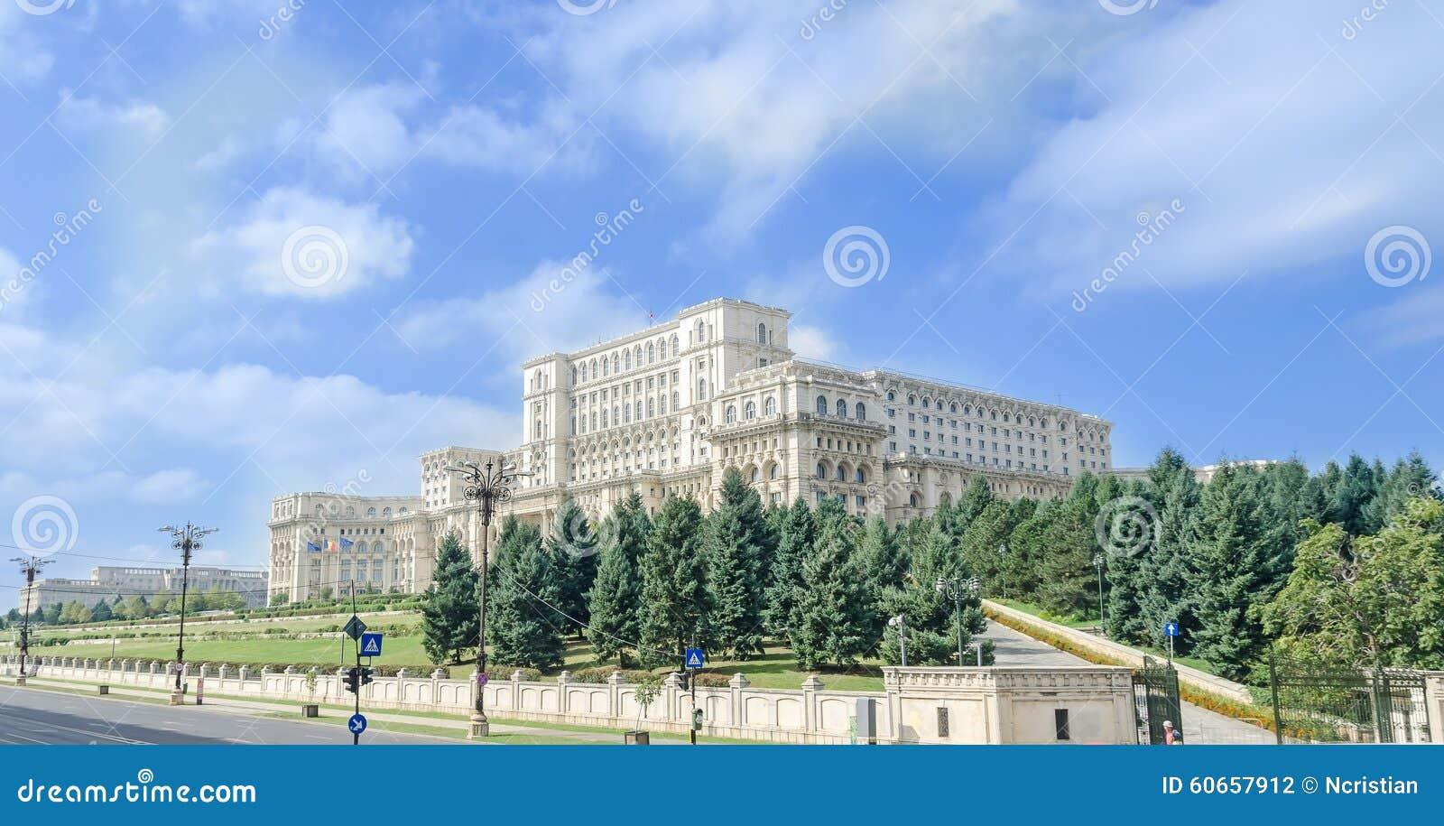 Το κτήριο κάλεσε Casa Poporului (σπίτι των ανθρώπων), το τετραγωνικό Piata Constitutiei bucharest romania