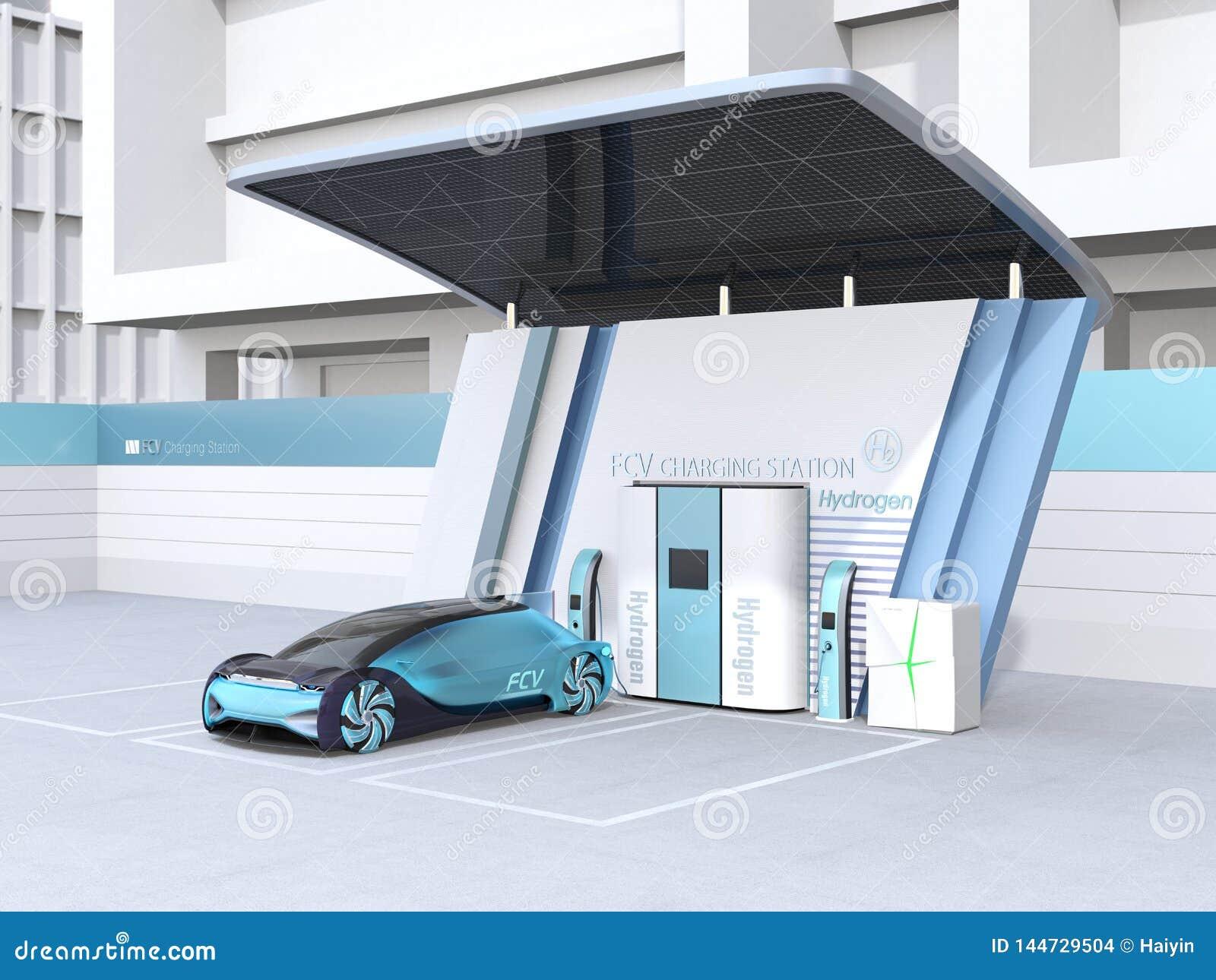 Το κύτταρο καυσίμου τροφοδότησε το αυτόνομο γεμίζοντας αέριο αυτοκινήτων στο υδρογόνο κυττάρων καυσίμου