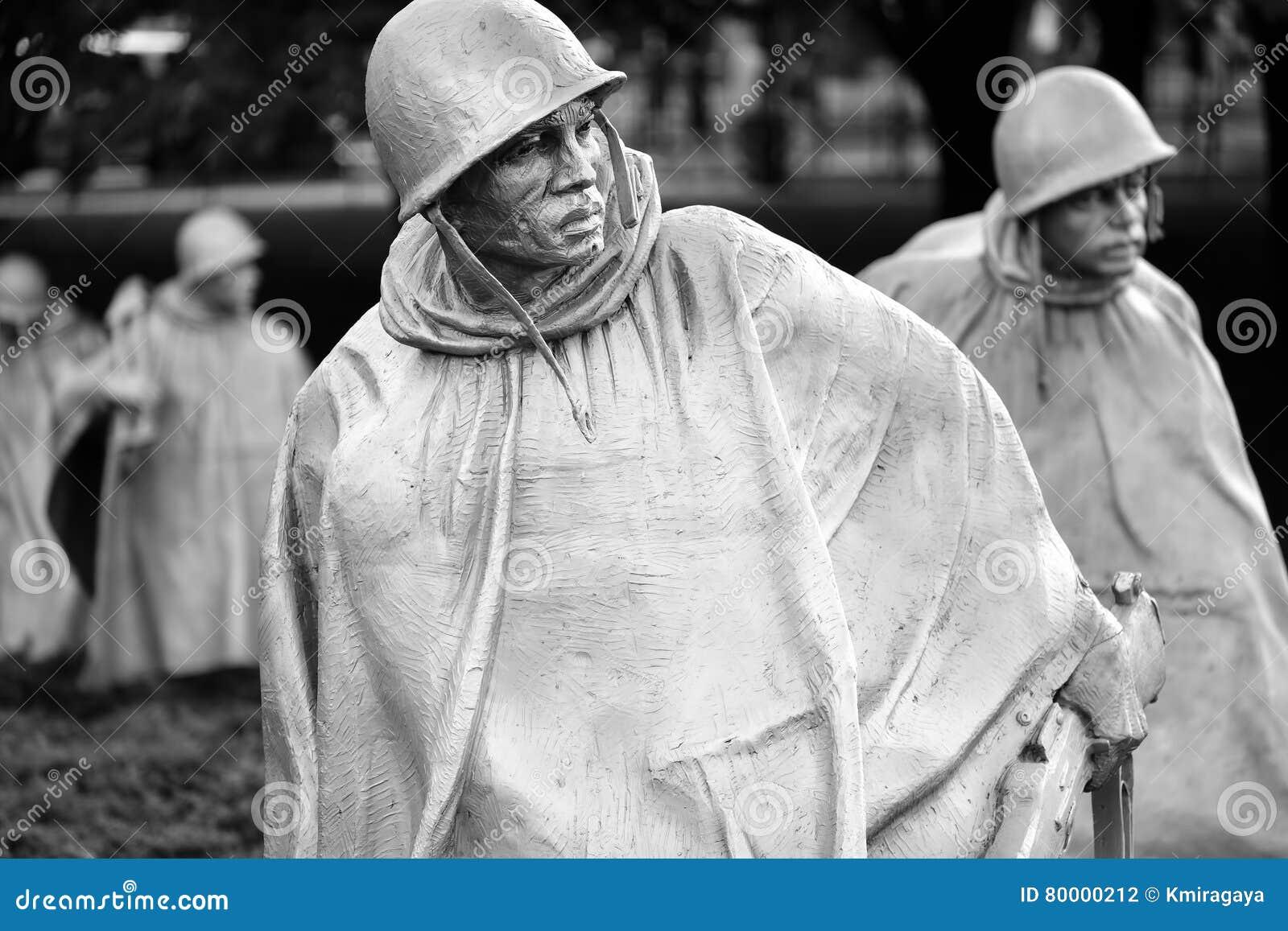 Το μνημείο παλαιμάχων Πολέμων της Κορέας στην Ουάσιγκτον Δ Γ