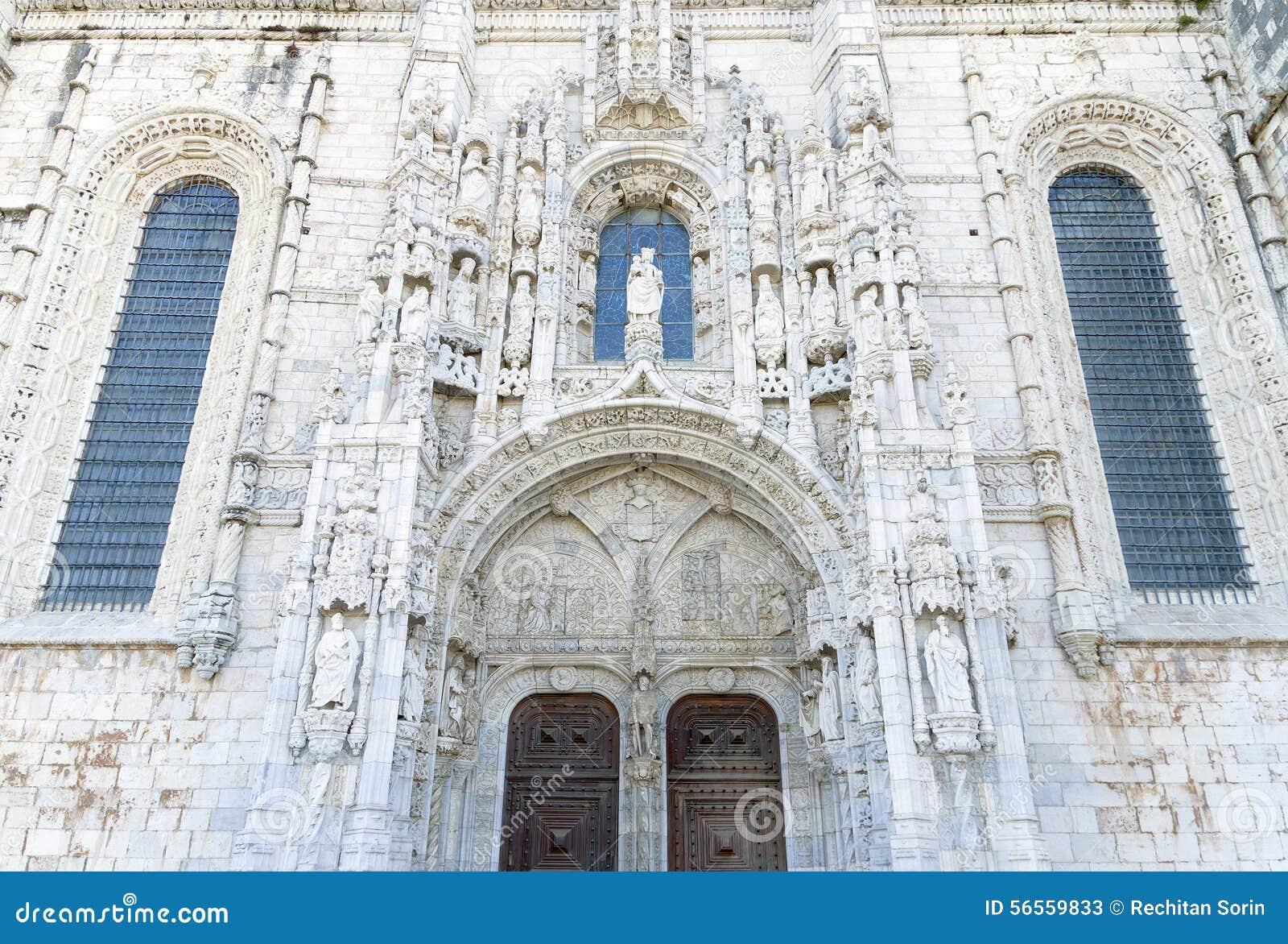 Download Το μοναστήρι Jeronimos στοκ εικόνα. εικόνα από βηθλεέμ - 56559833