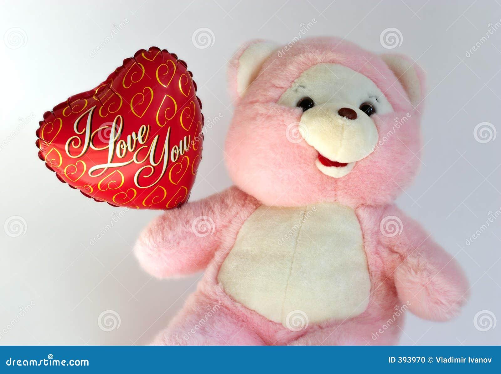 το μπαλόνι αντέχει την καρδιά teddy