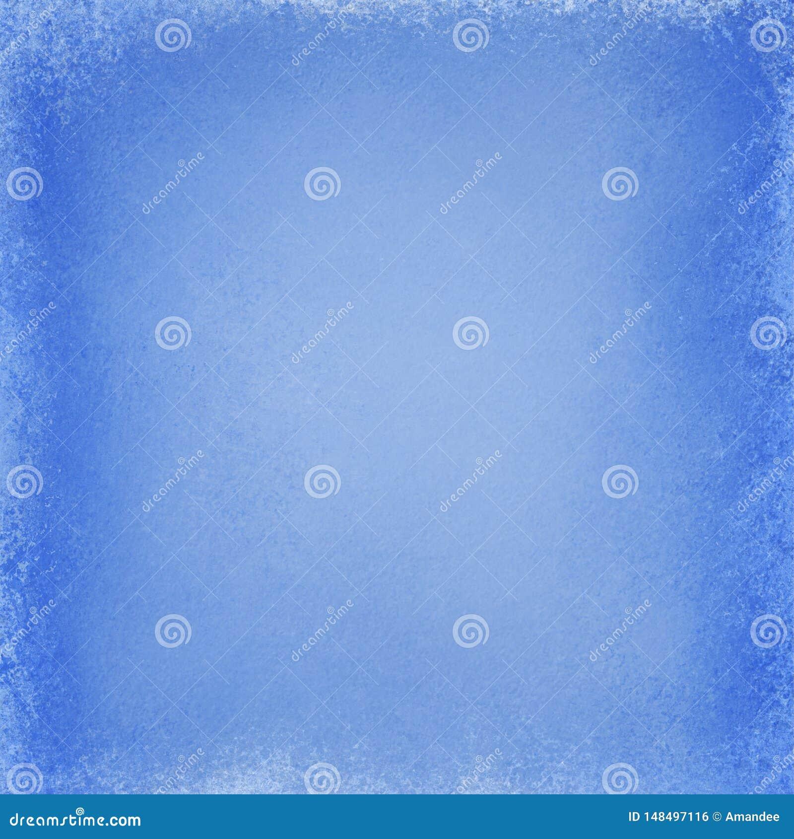 Το μπλε υπόβαθρο με τη σκούρο μπλε σύσταση και grunge οριοθετεί το σχέδιο, κομψή παλαιά κενή απεικόνιση εγγράφου