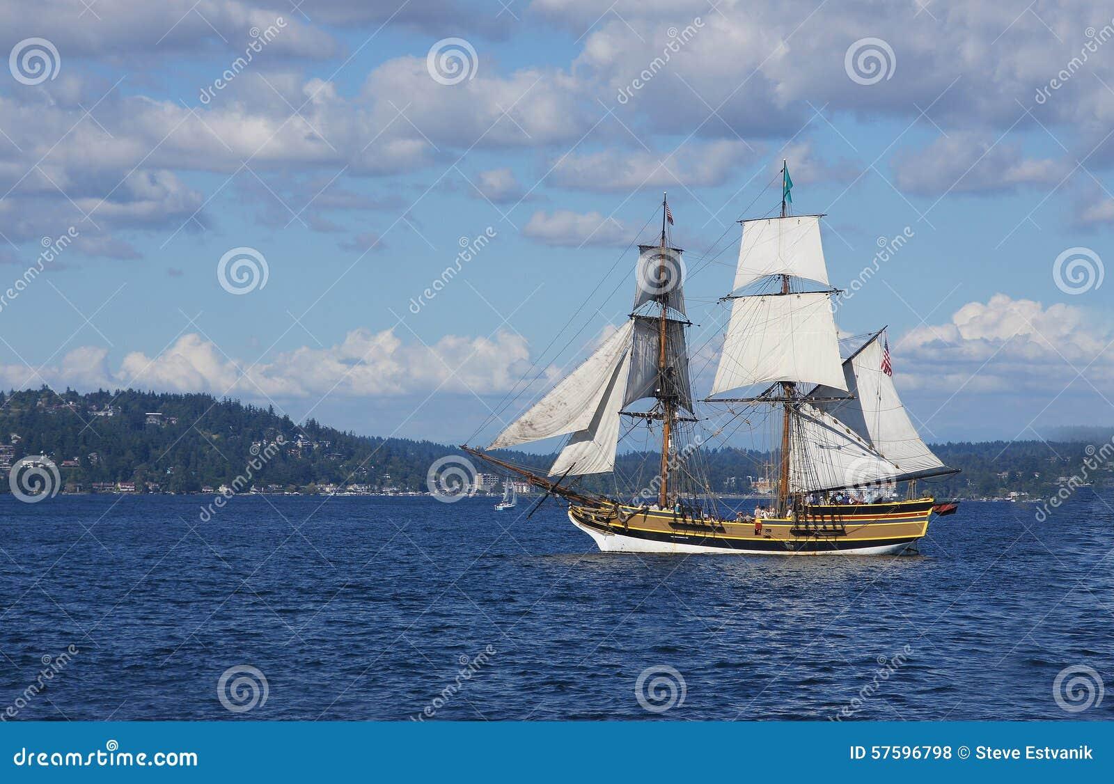 Το ξύλινο brig, κυρία Washington