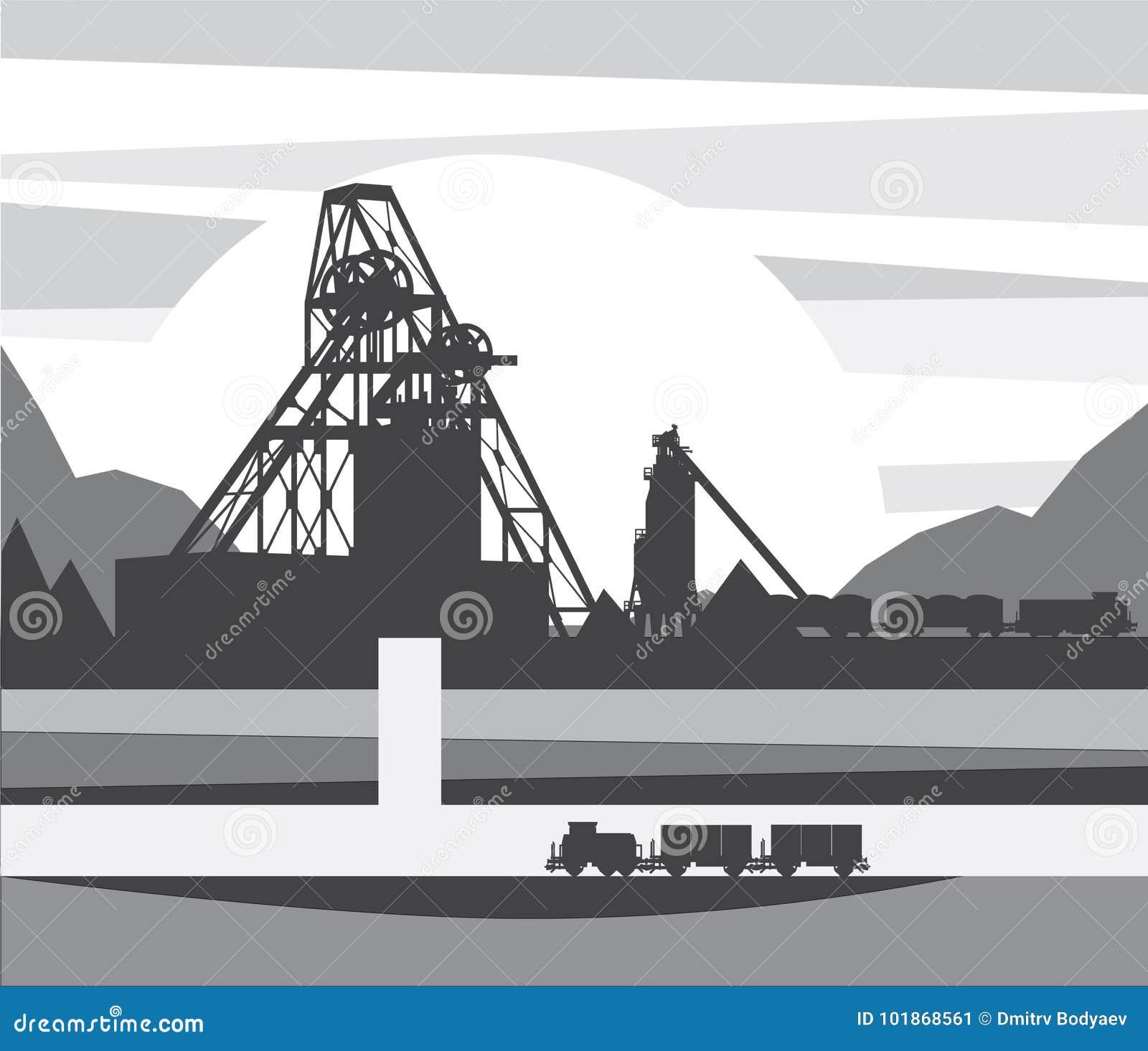 Το ορυχείο είναι στην περικοπή, απεικόνιση