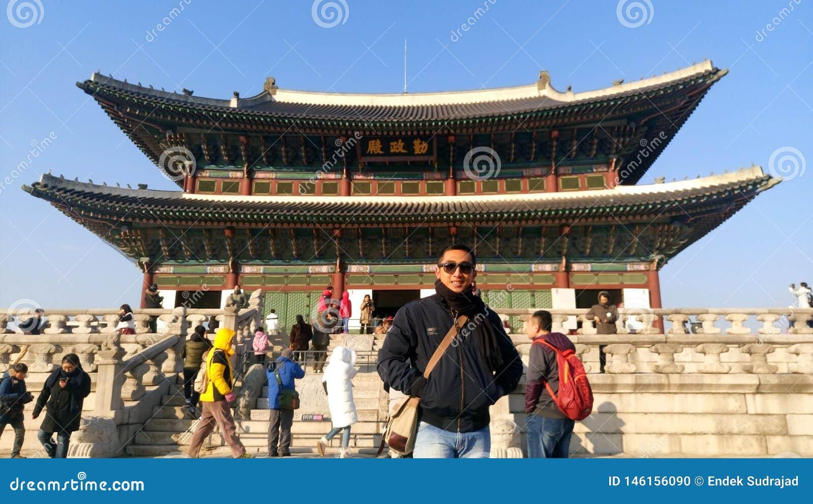 Το παλάτι Gyeongbokgung greates, Σεούλ Κορέα