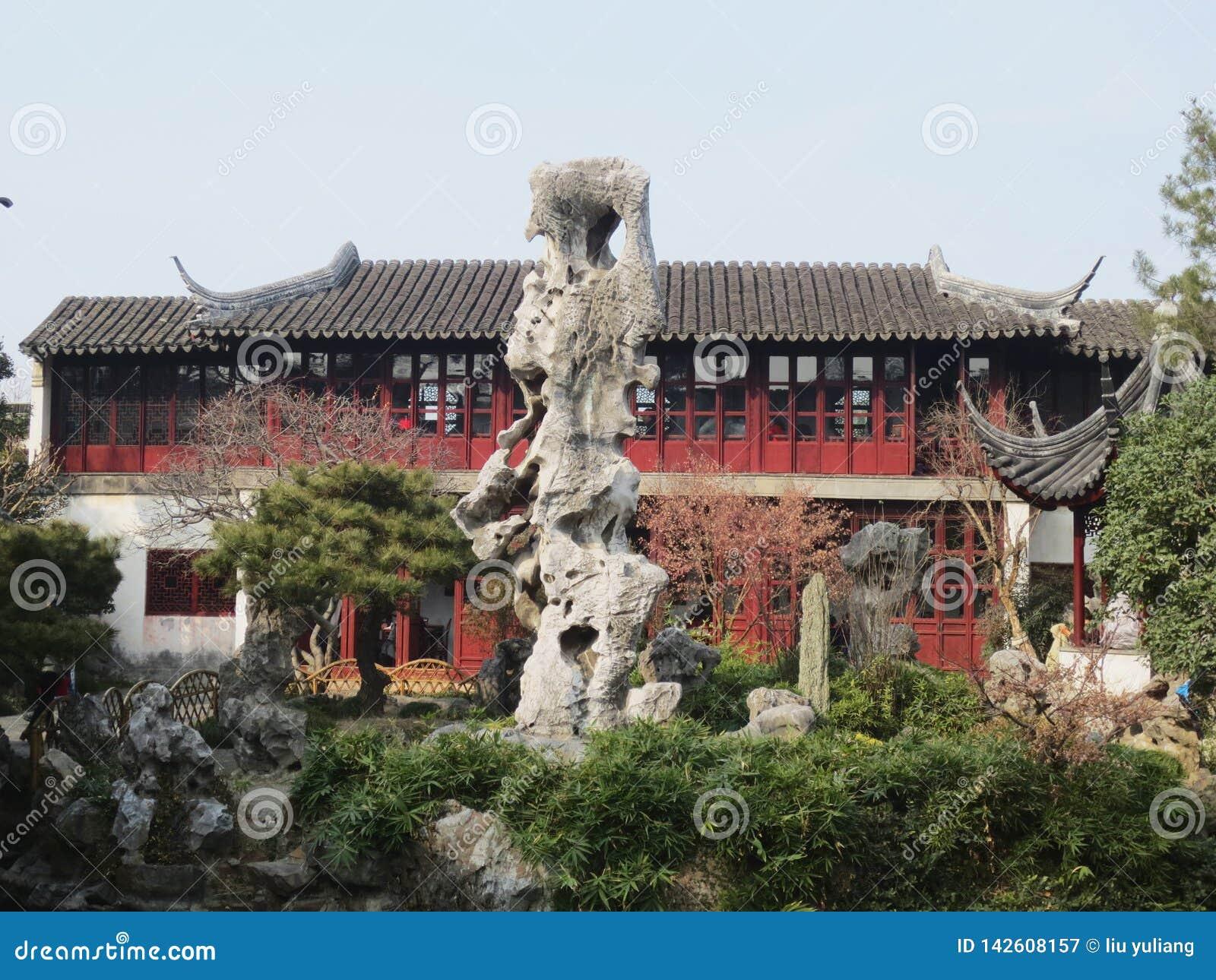 Το περίεργο κεφάλι του κήπου καθυστέρησης suzhou