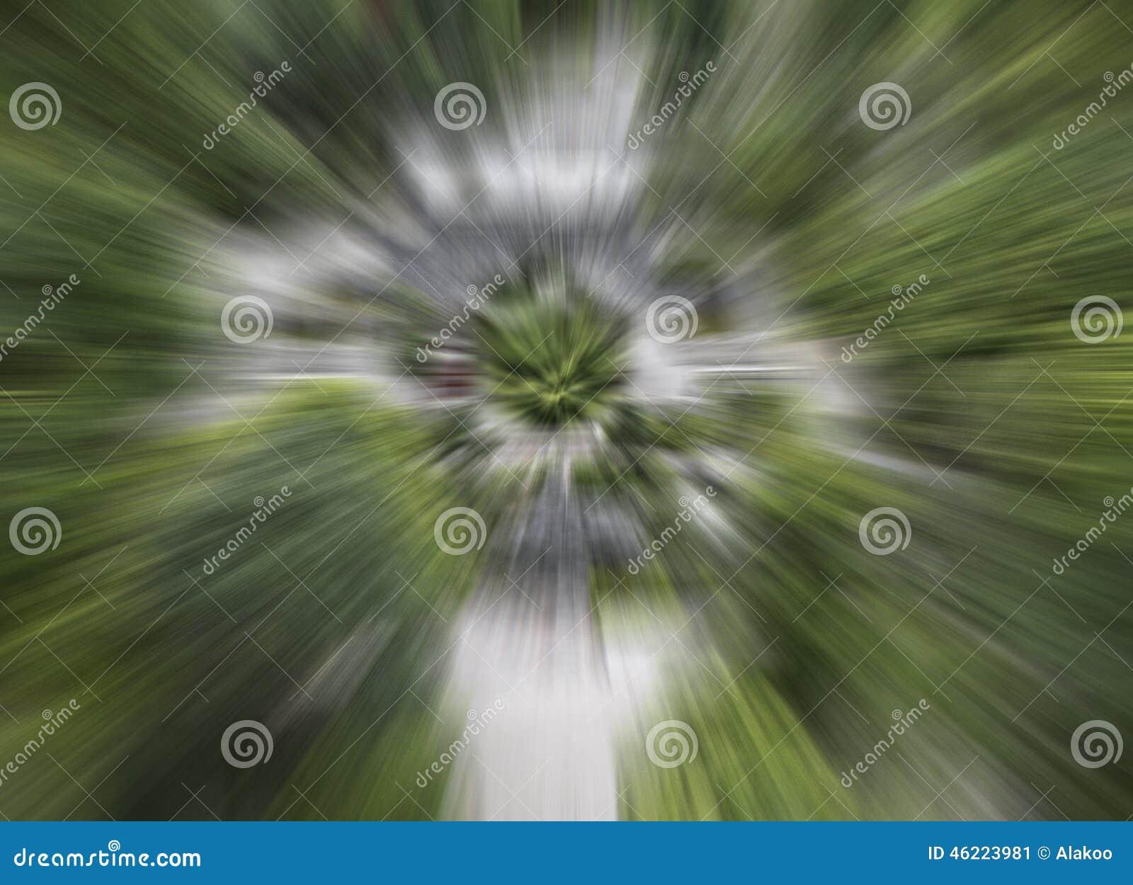 το πράσινο υπόβαθρο θαμπάδων κινήσεων ταχύτητας χρώματος αφηρημένο, αφαιρεί το ακτινωτό θολωμένο υπόβαθρο σχεδίων