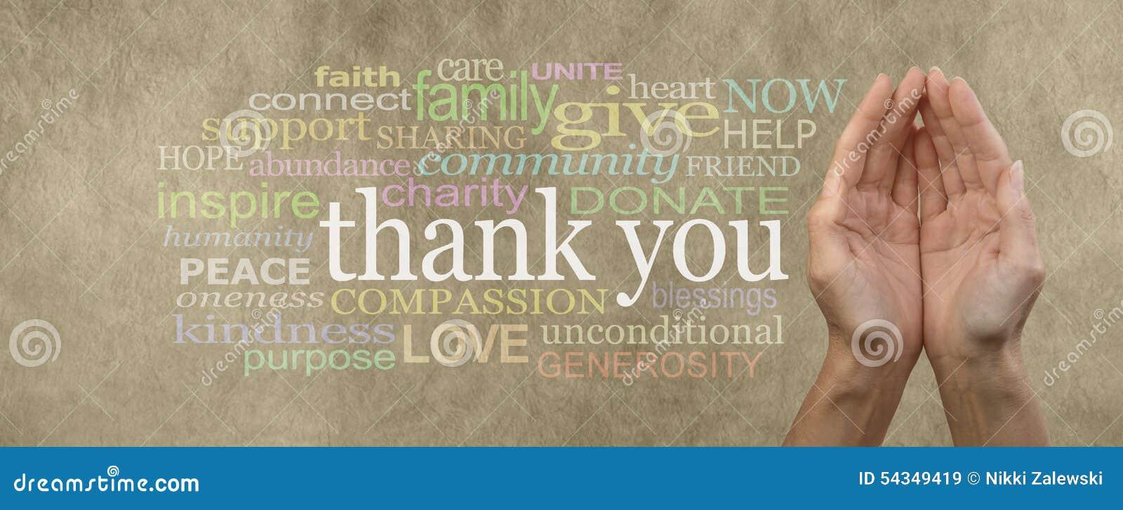 Το ρητό επιγραφών ιστοχώρου εκστρατείας αύξησης Ταμείων σας ευχαριστεί