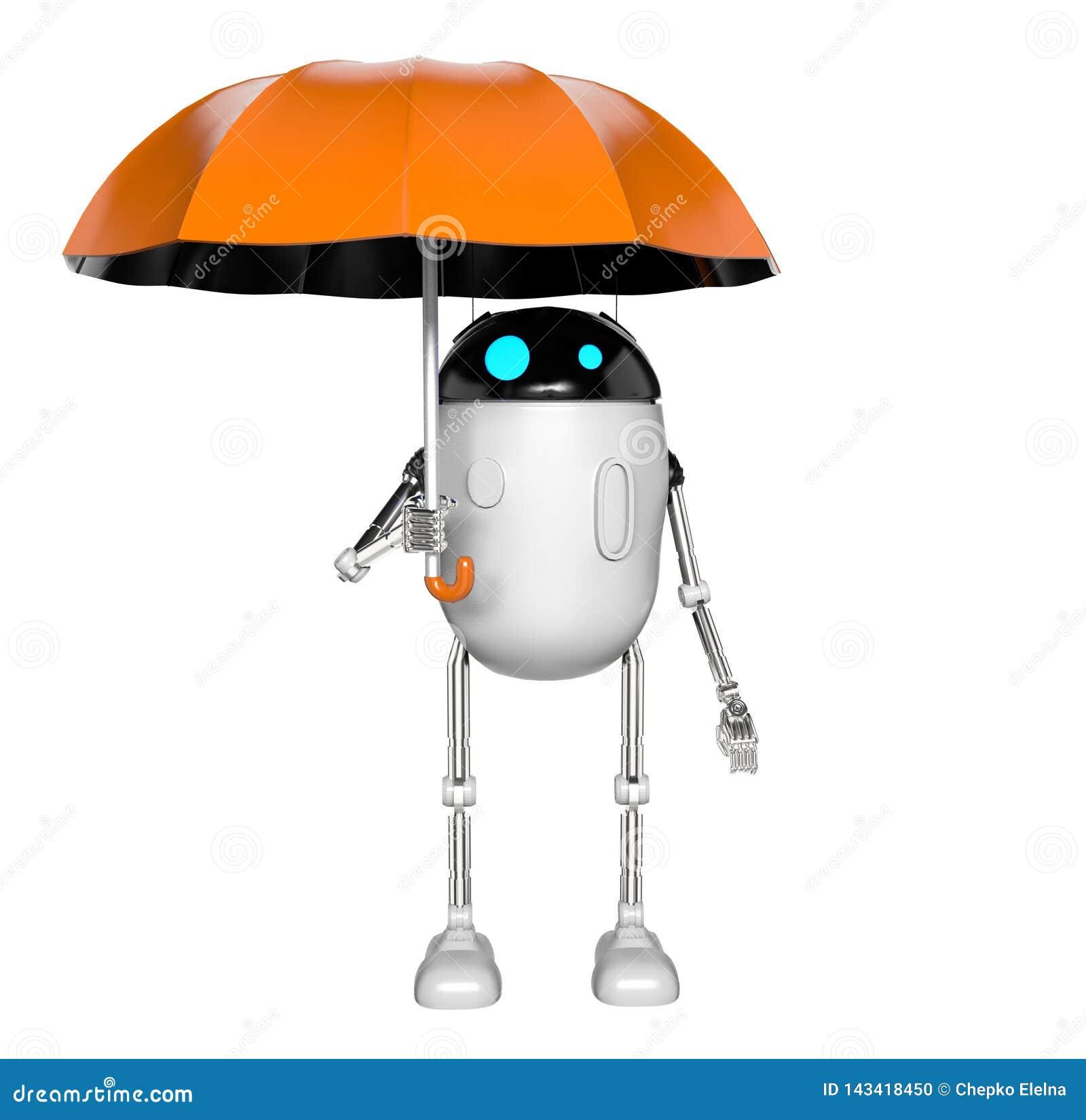 Το ρομπότ με την ομπρέλα, τρισδιάστατη δίνει