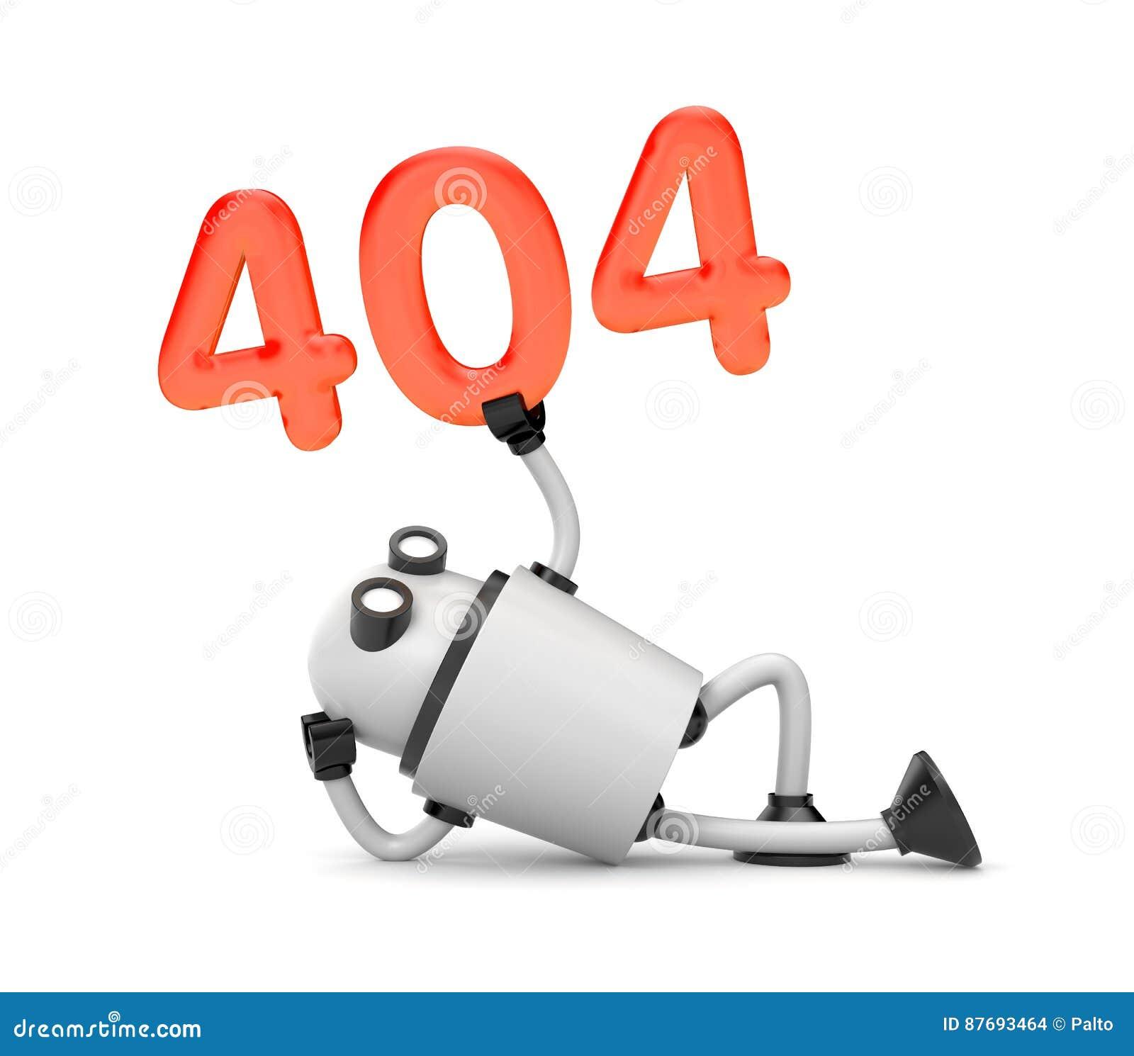 Το ρομπότ στηρίζεται και εκμετάλλευση τους αριθμούς 404 - μην βριαλμένη σελίδων λάθος 404