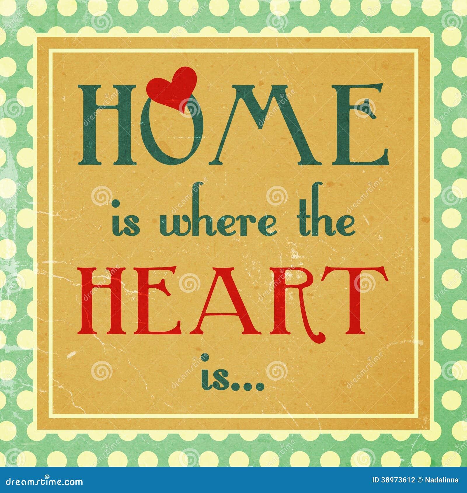 Το σπίτι είναι όπου η καρδιά είναι