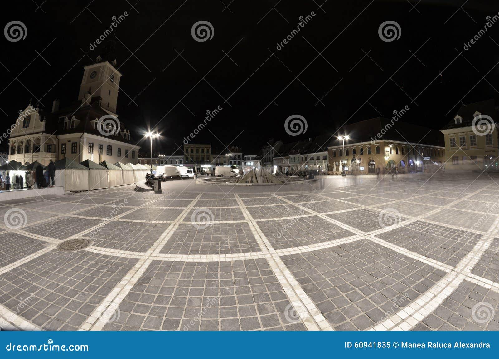 Το Συμβούλιο τετραγωνικό Brasov Transilvania