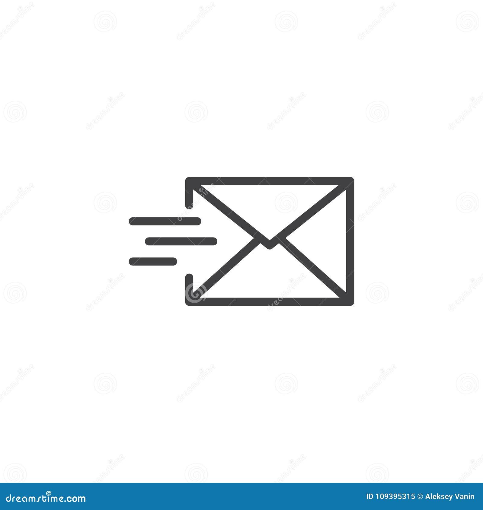 Το ταχυδρομείο στέλνει το εικονίδιο γραμμών