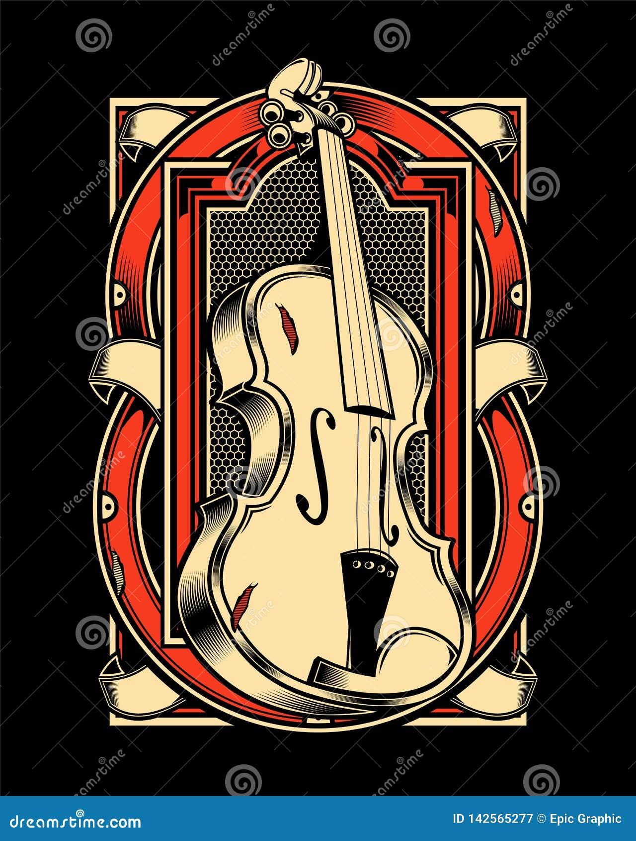 Το χέρι βιολιών σύρει