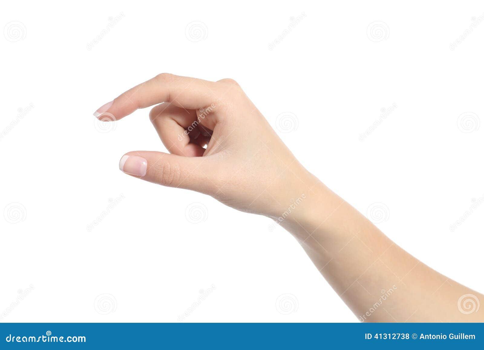 Το χέρι γυναικών που κρατά μερικών συμπαθεί ένα κενό αντικείμενο