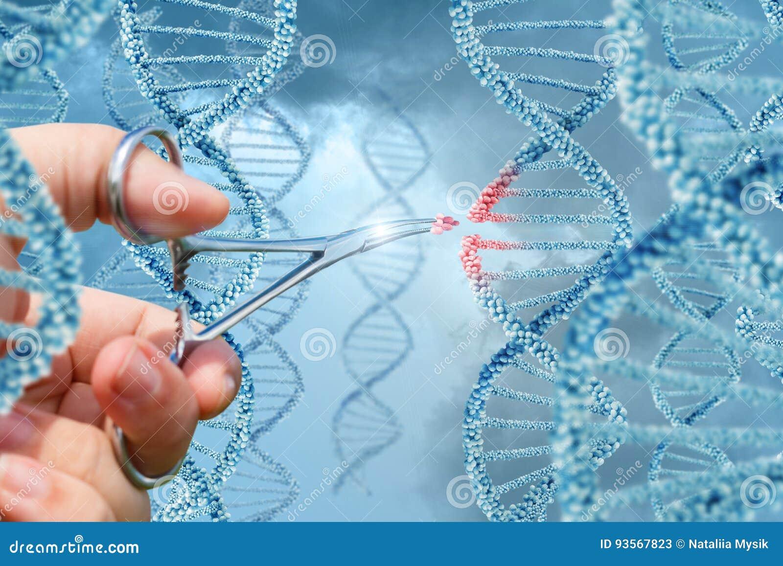 Το χέρι παρεμβάλλει ένα μόριο στο DNA