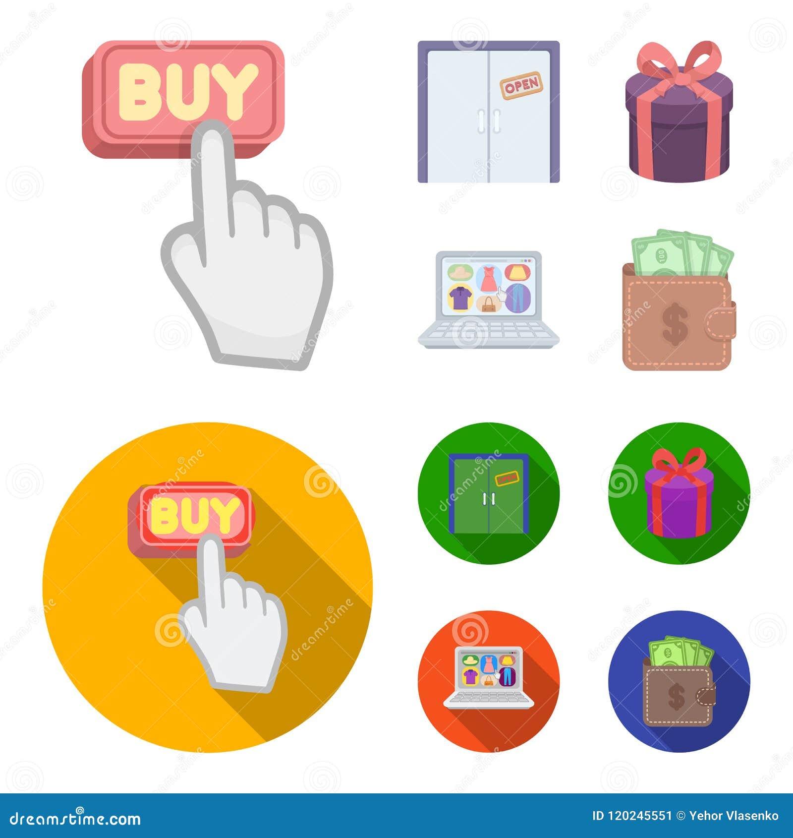Το χέρι, χτυπά, ανελκυστήρας, δώρο, παράθυρο, πόρτα, σε απευθείας σύνδεση κατάστημα και άλλος εξοπλισμός Καθορισμένα εικονίδια συ