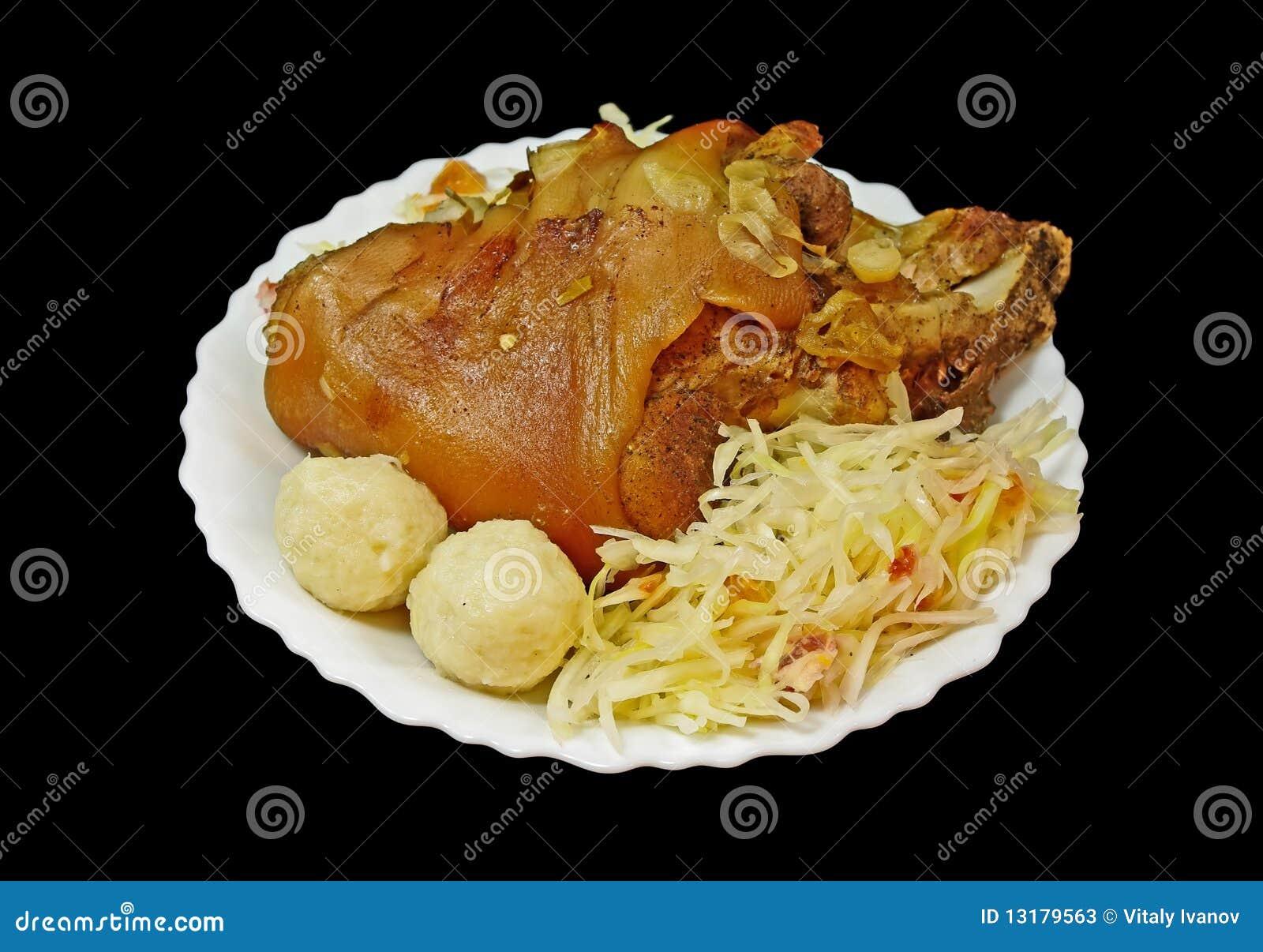 το χοιρινό κρέας γονάτων