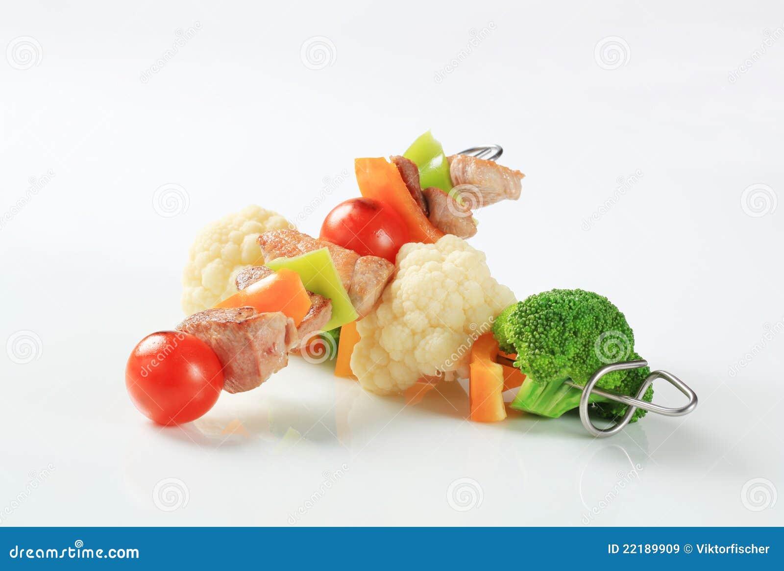 το χοιρινό κρέας σουβλίζ&ep
