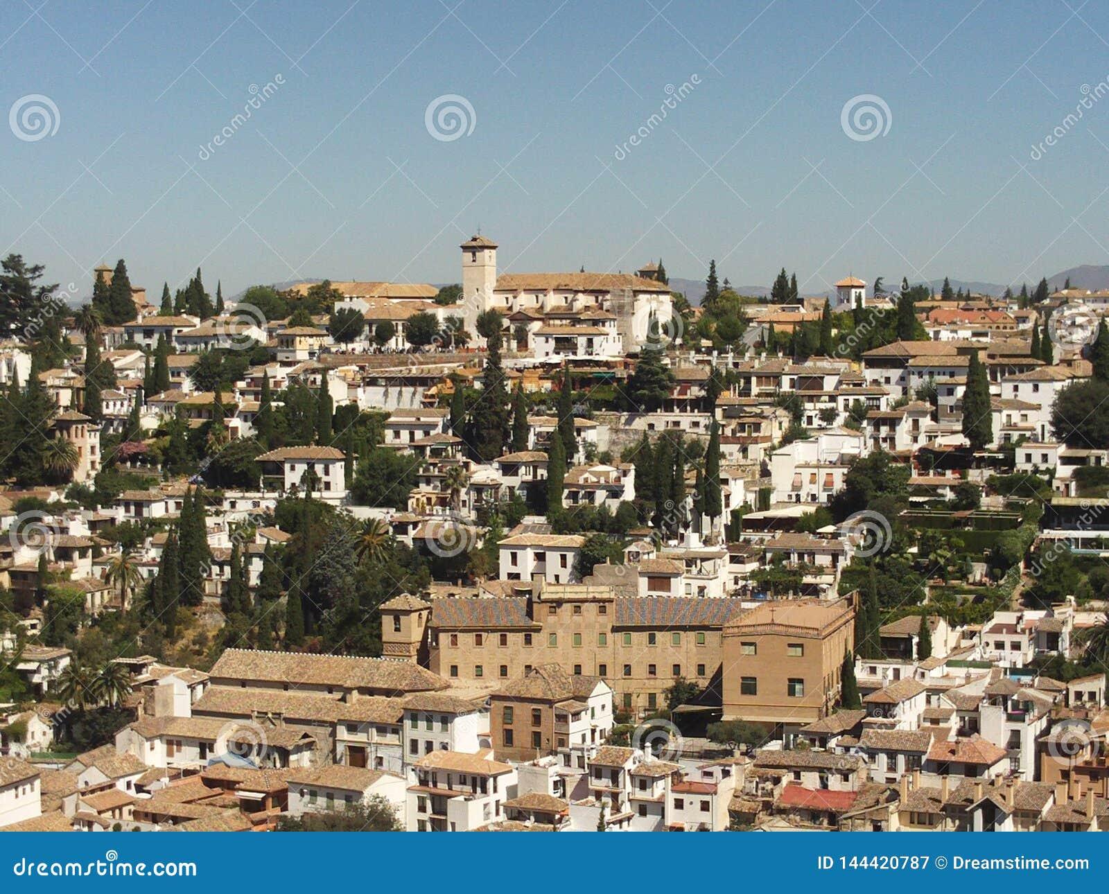 Το AlbaicÃn, περιοχή παγκόσμιων κληρονομιών, Γρανάδα, Ισπανία
