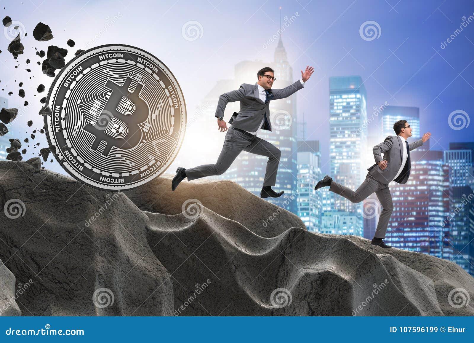 Το bitcoin που χαράζει τον επιχειρηματία στην έννοια cryptocurrency blockchain