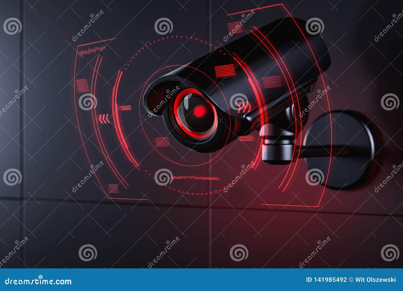 Το CCTV ελέγχει τις πληροφορίες για τον πολίτη στο σύστημα ασφαλείας επιτήρησης, κοινωνική έννοια πιστωτικών συστημάτων r