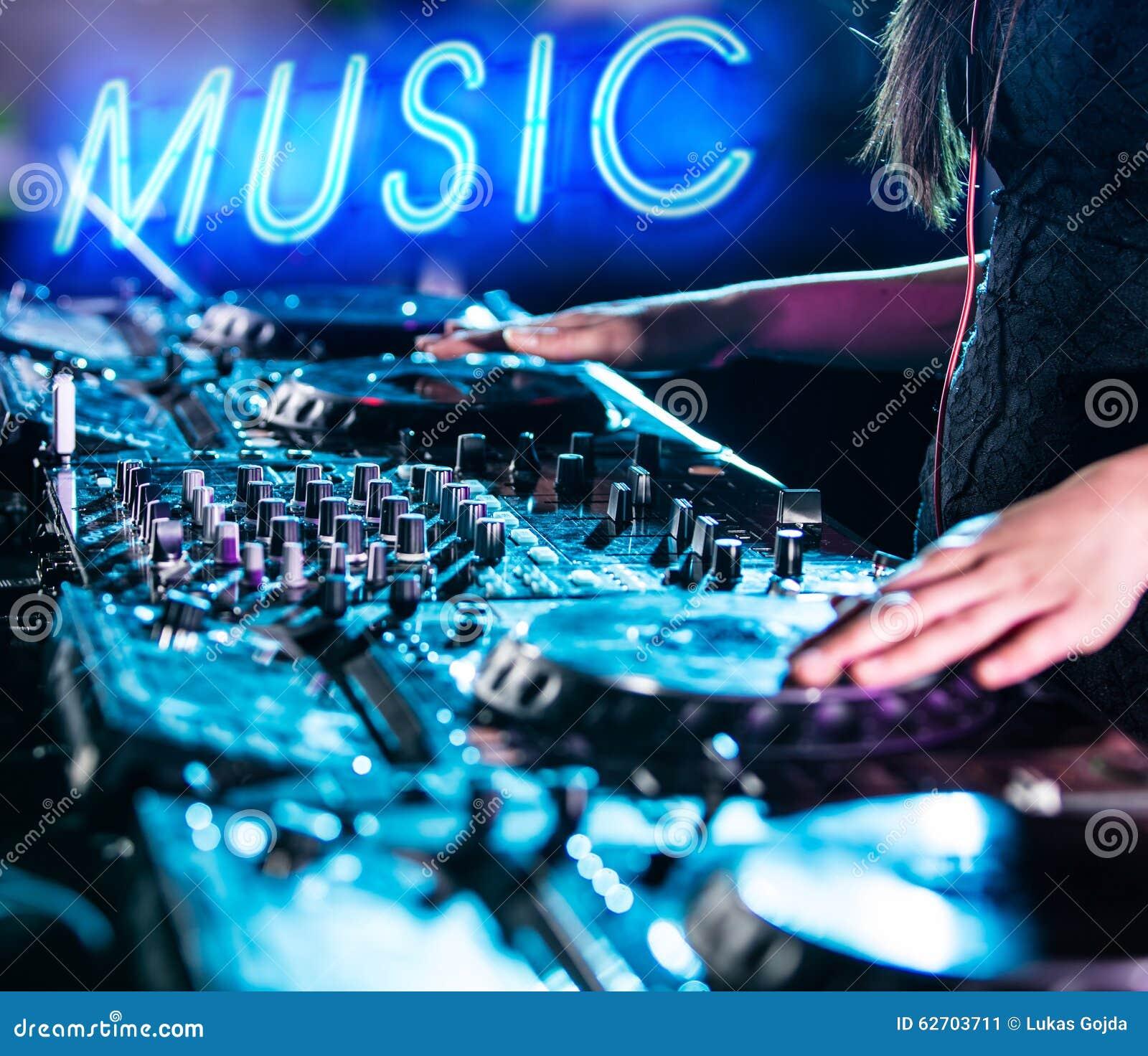 το DJ αναμιγνύει τη διαδρομ