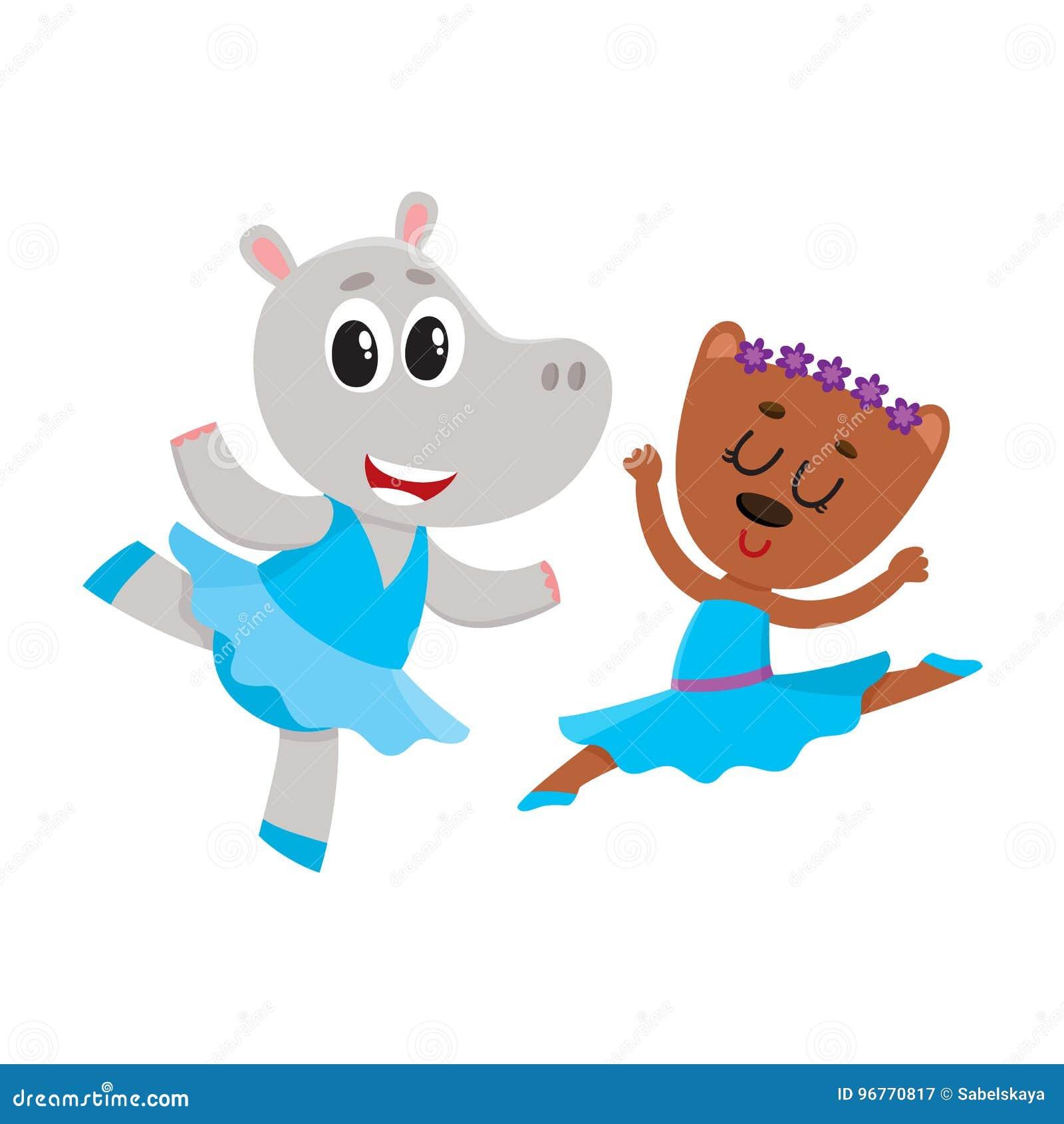 a6337f75c65 Το Hippo και αντέχουν, το μπαλέτο χορού χαρακτήρων κουταβιών και γατακιών  από κοινού