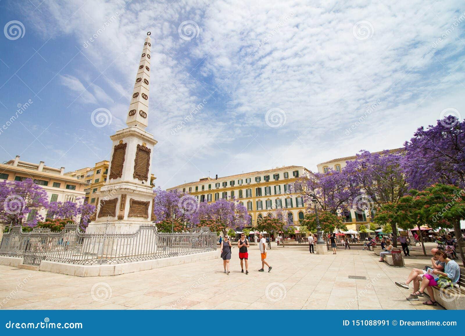 Το Plaza το τετραγωνικό μνημείο της Μάλαγας